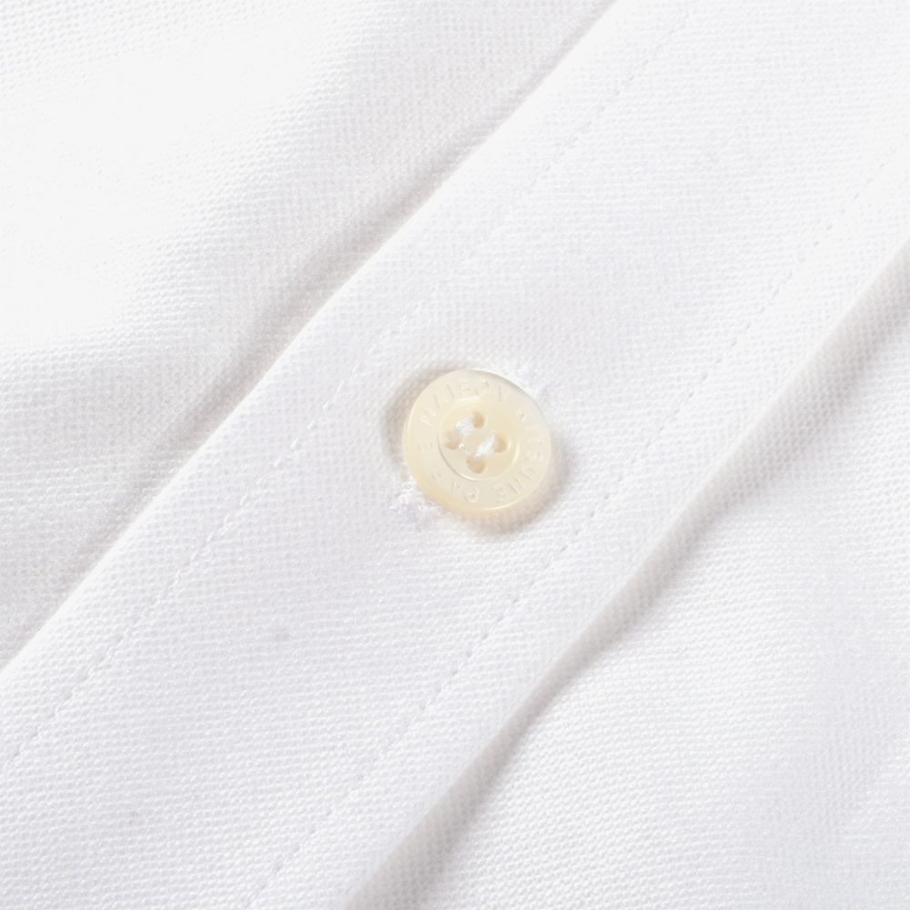 Maison Kitsune Tricolor Fox Patch Oxford Shirt - White 3