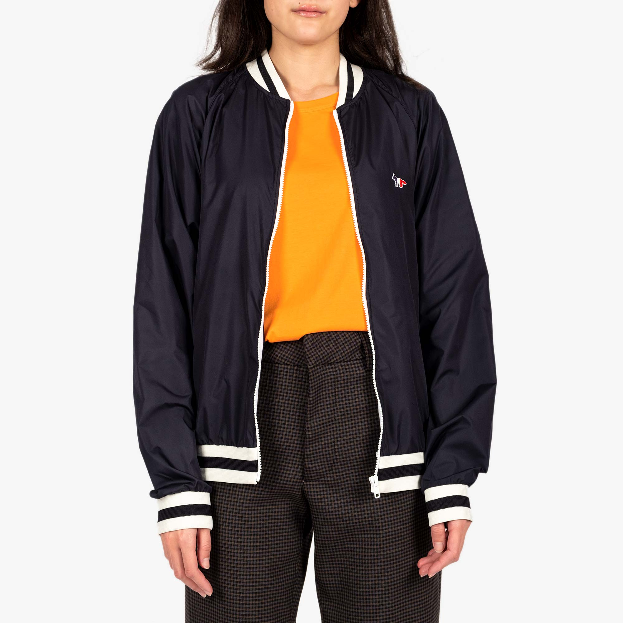 Maison Kitsune Womens Windbreaker - Navy 1