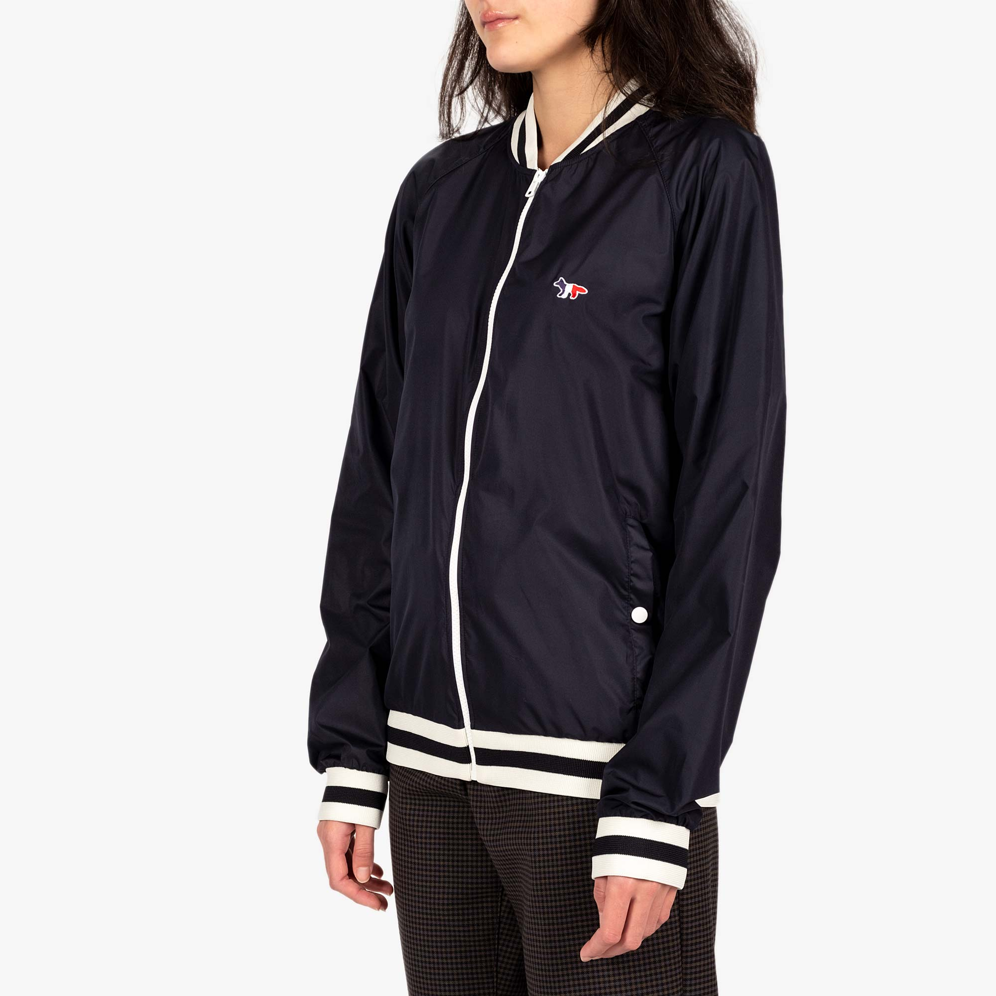 Maison Kitsune Womens Windbreaker - Navy 2