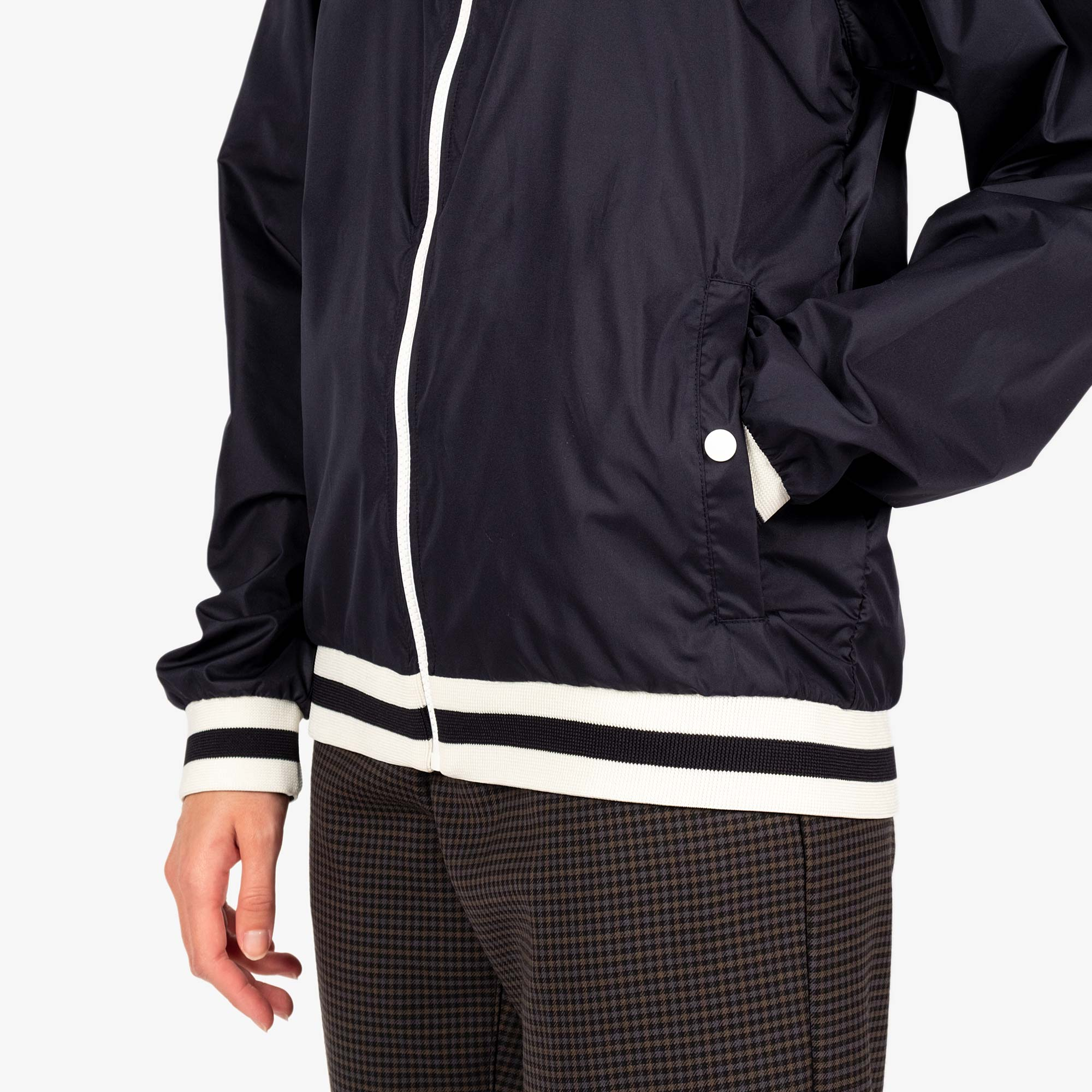 Maison Kitsune Womens Windbreaker - Navy 8