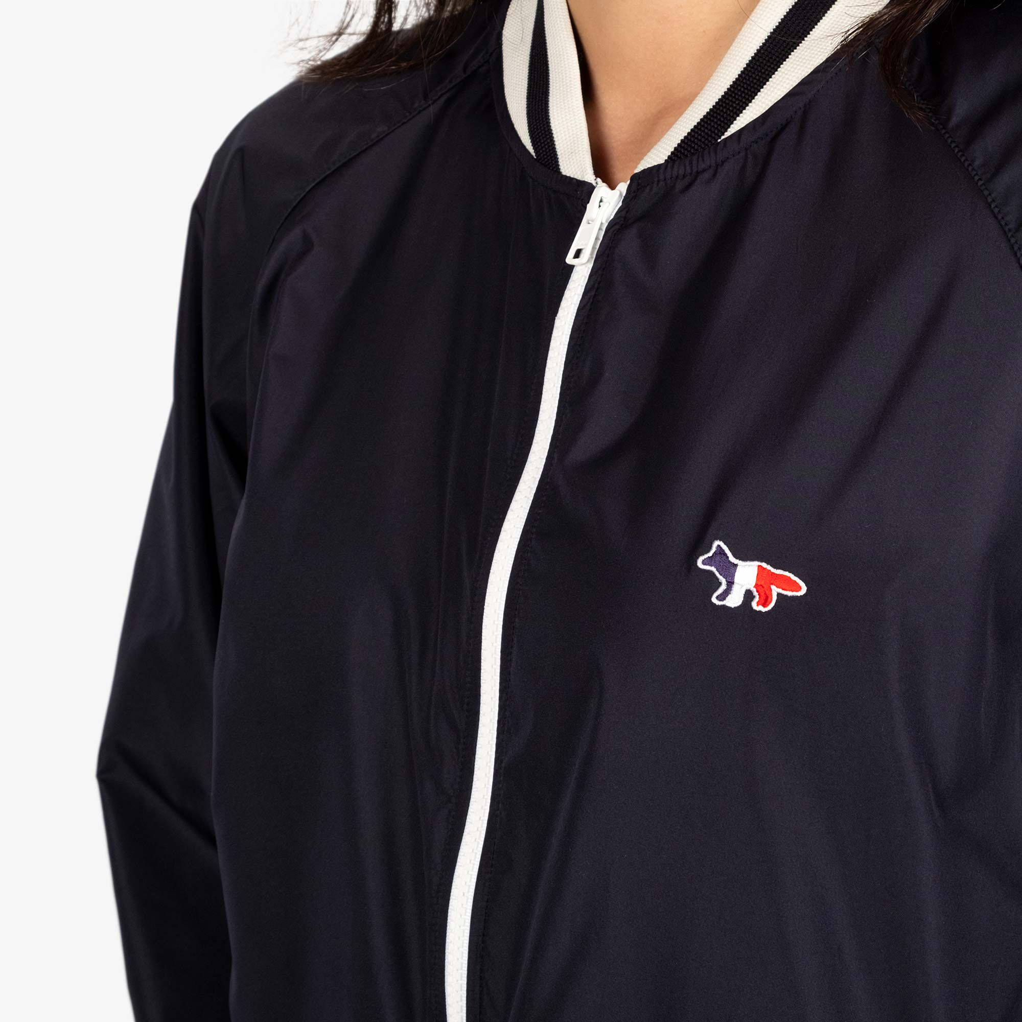 Maison Kitsune Womens Windbreaker - Navy 3