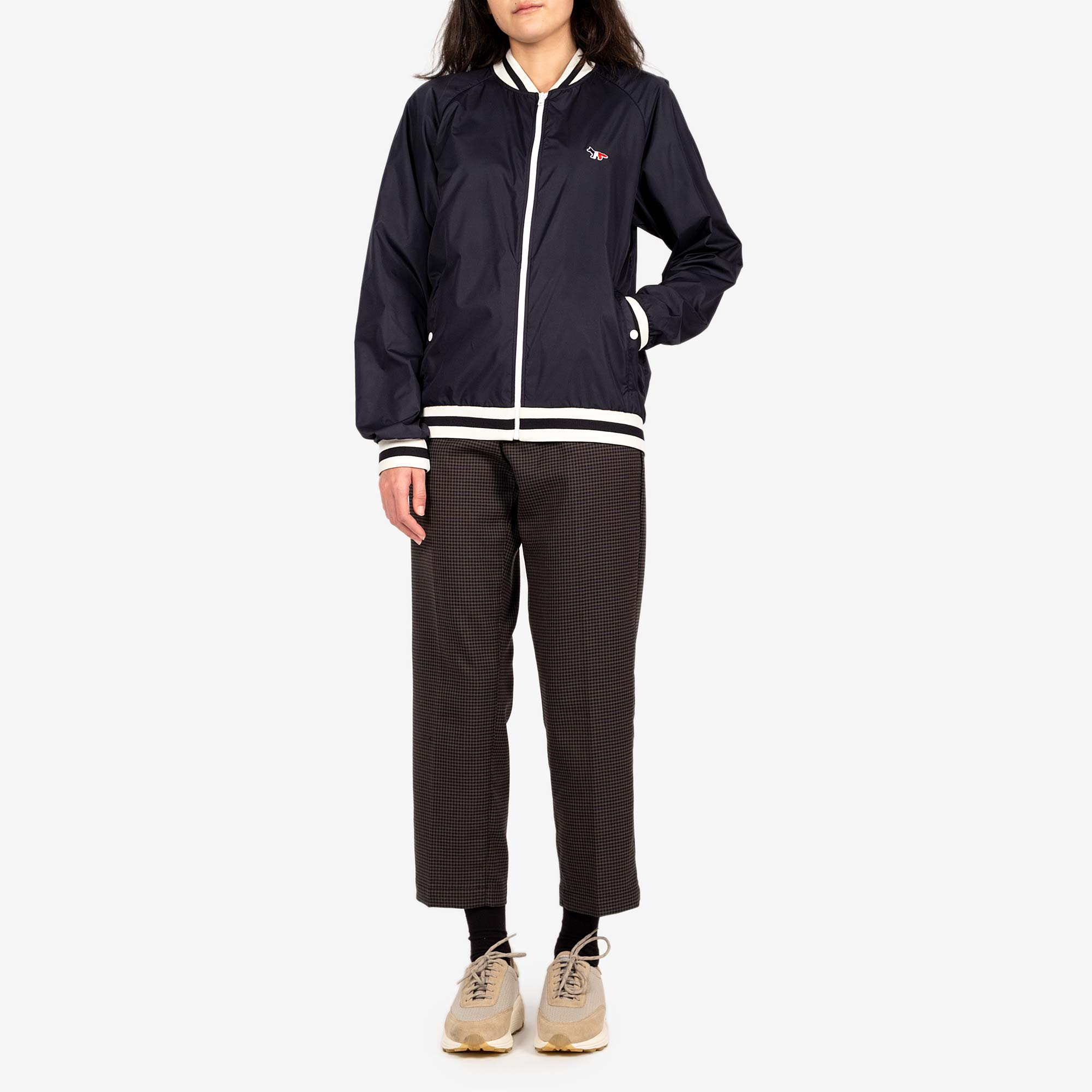 Maison Kitsune Womens Windbreaker - Navy 4