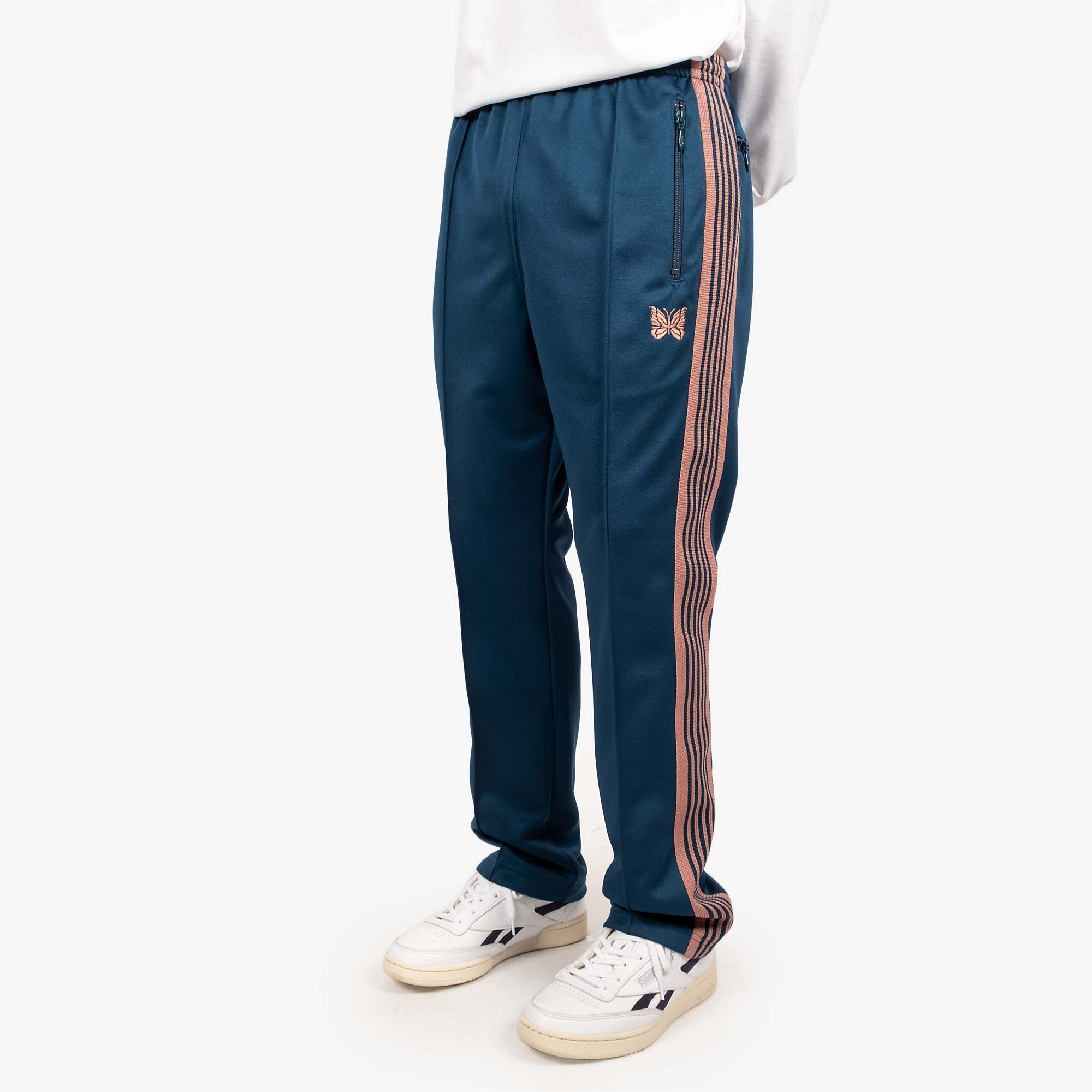 Needles M' Narrow Track Pant - Poly Smooth Teal Green 2