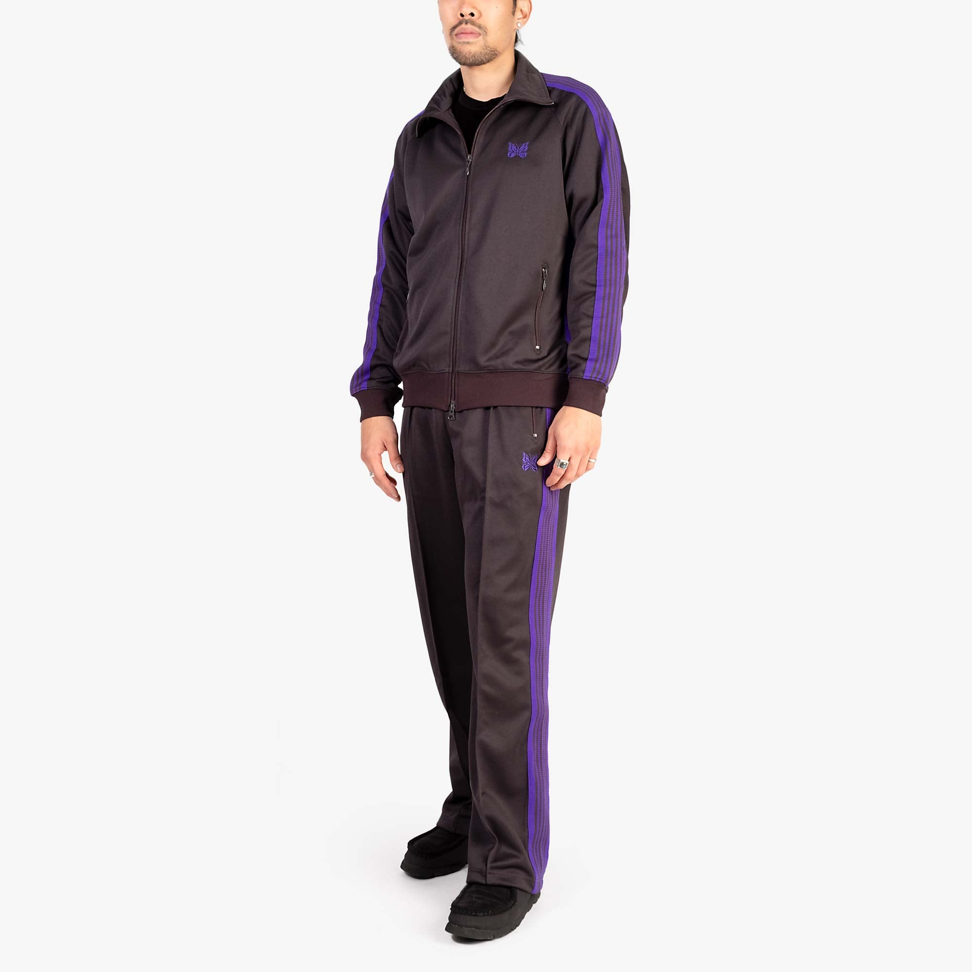 Needles M' Track Jacket Poly Smooth - Charcoal 11