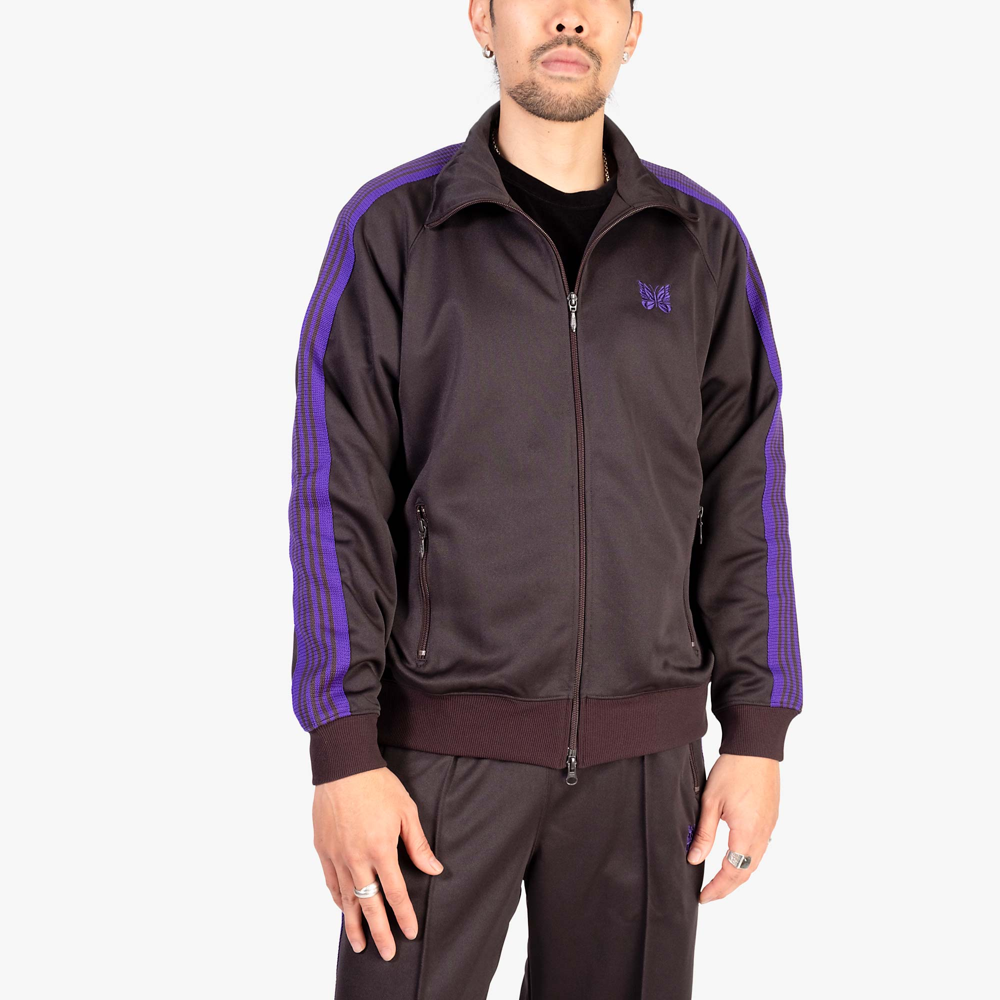 Needles M' Track Jacket Poly Smooth - Charcoal 7