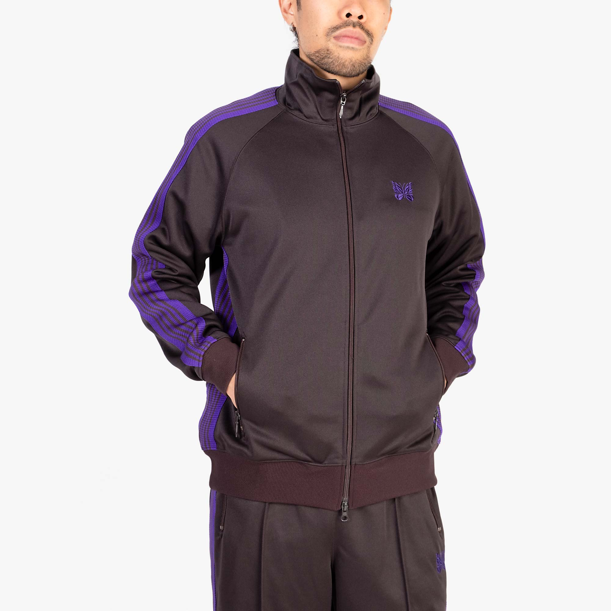 Needles M' Track Jacket Poly Smooth - Charcoal 8