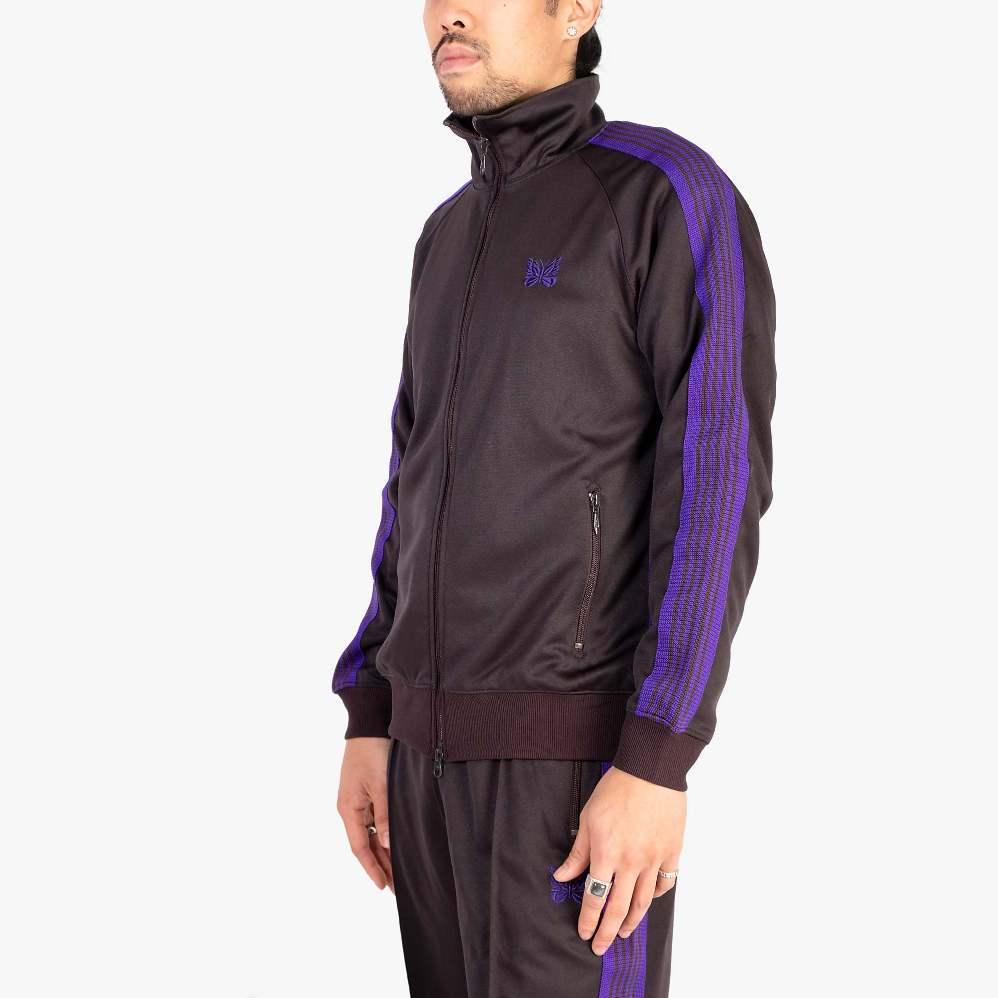 Needles M' Track Jacket Poly Smooth - Charcoal 9