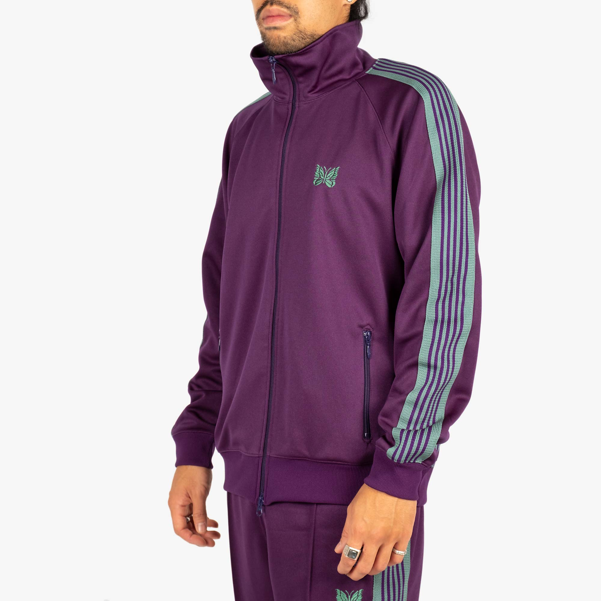Needles M' Track Jacket - Poly Smooth Eggplant 2