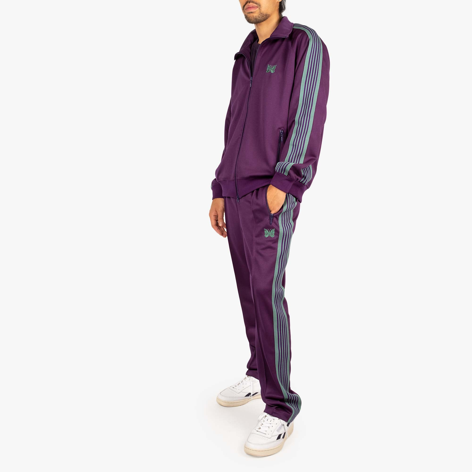 Needles M' Track Jacket - Poly Smooth Eggplant 7