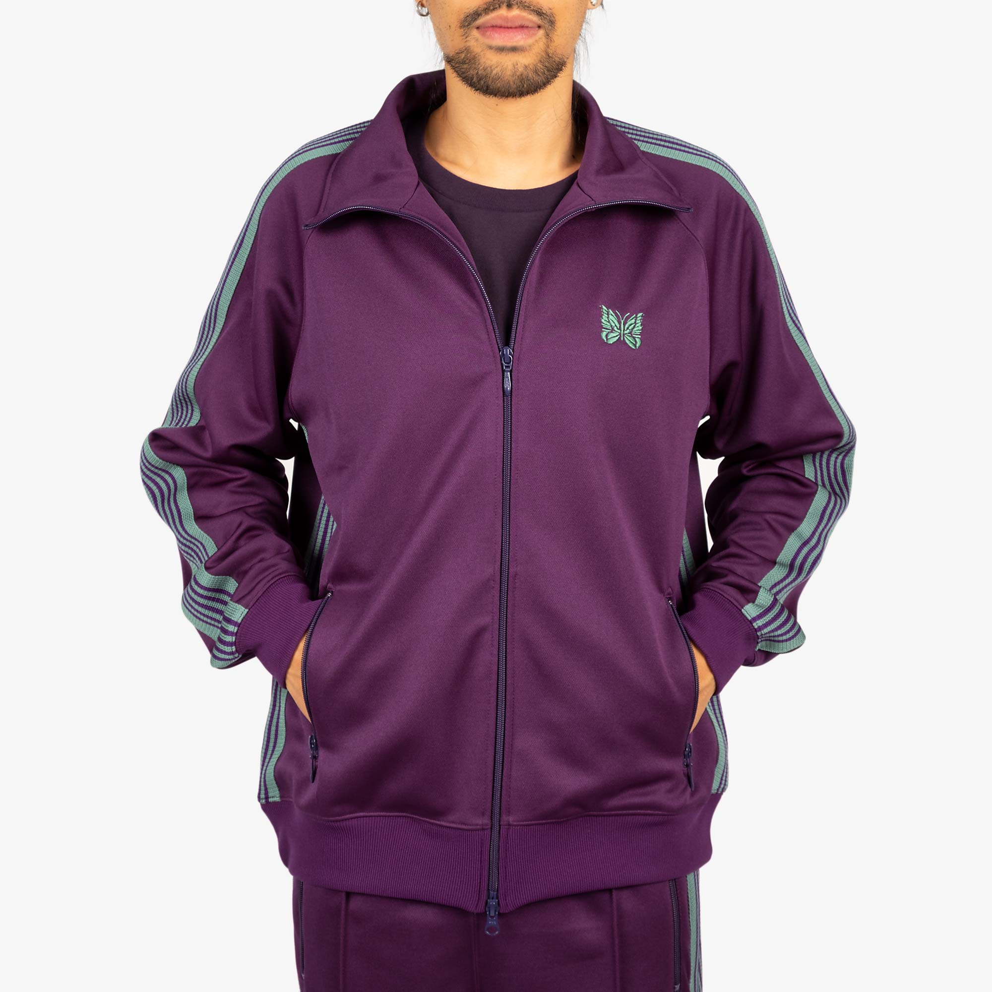 Needles M' Track Jacket - Poly Smooth Eggplant 8