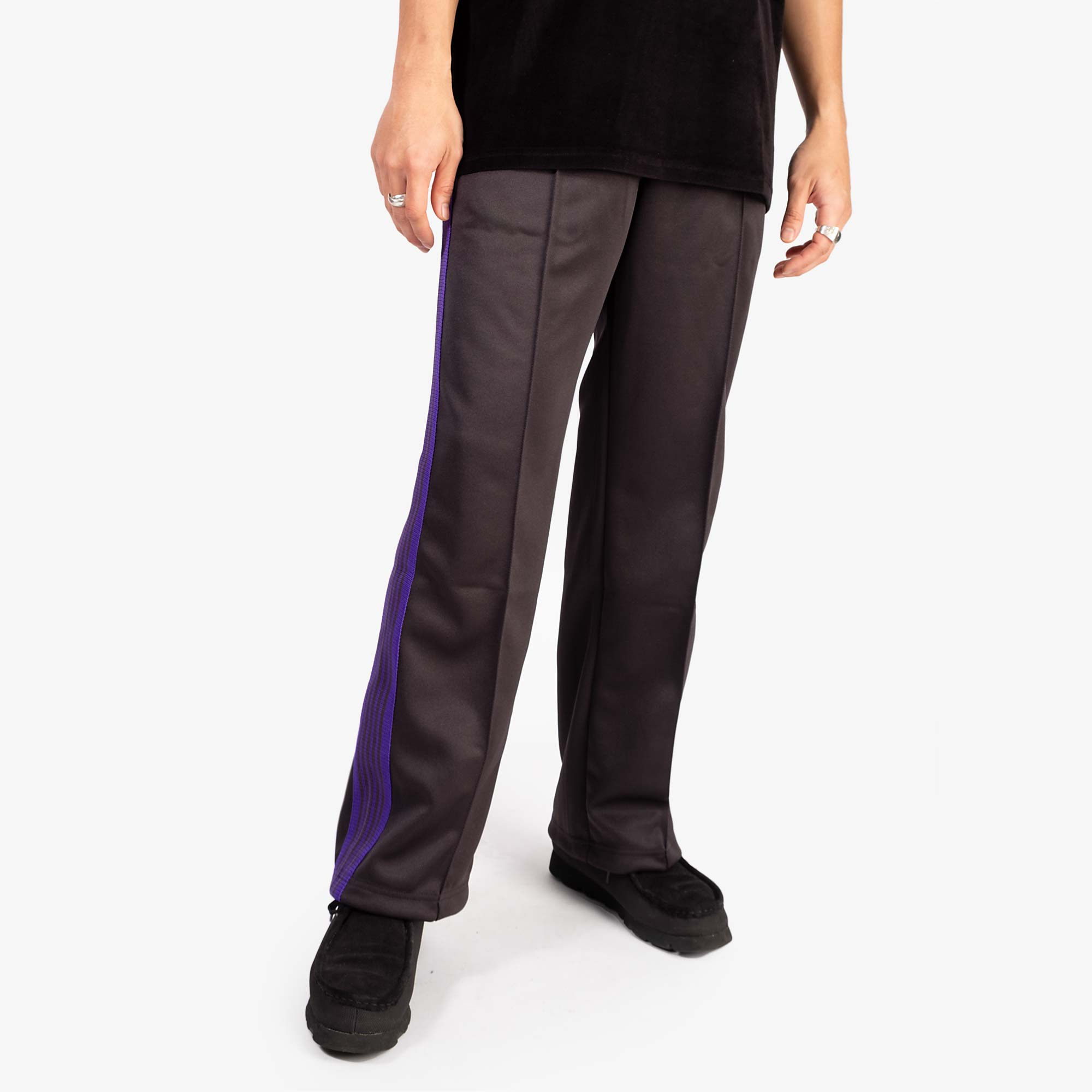 Needles M' Track Pant Poly Smooth - Charcoal 9