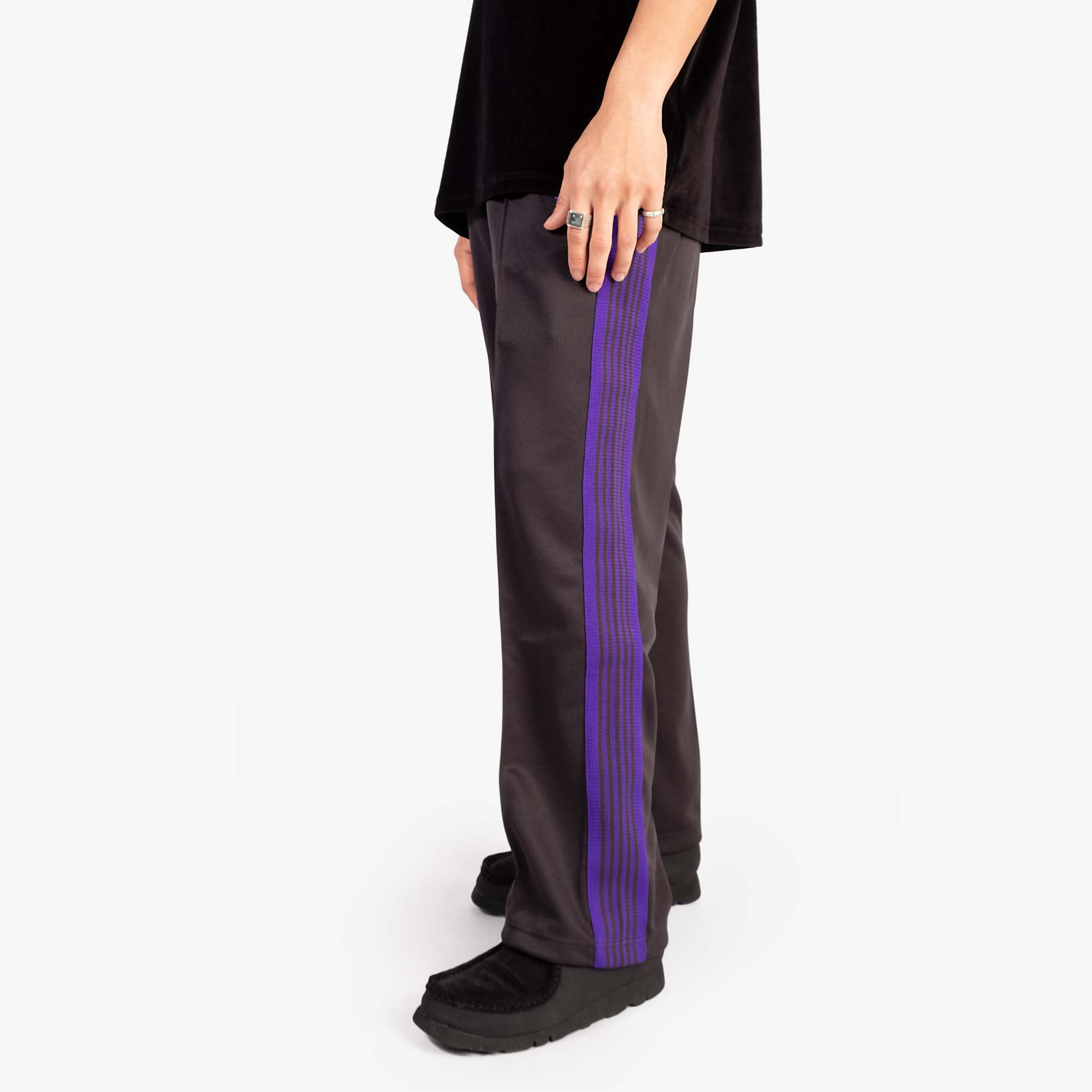 Needles M' Track Pant Poly Smooth - Charcoal 10