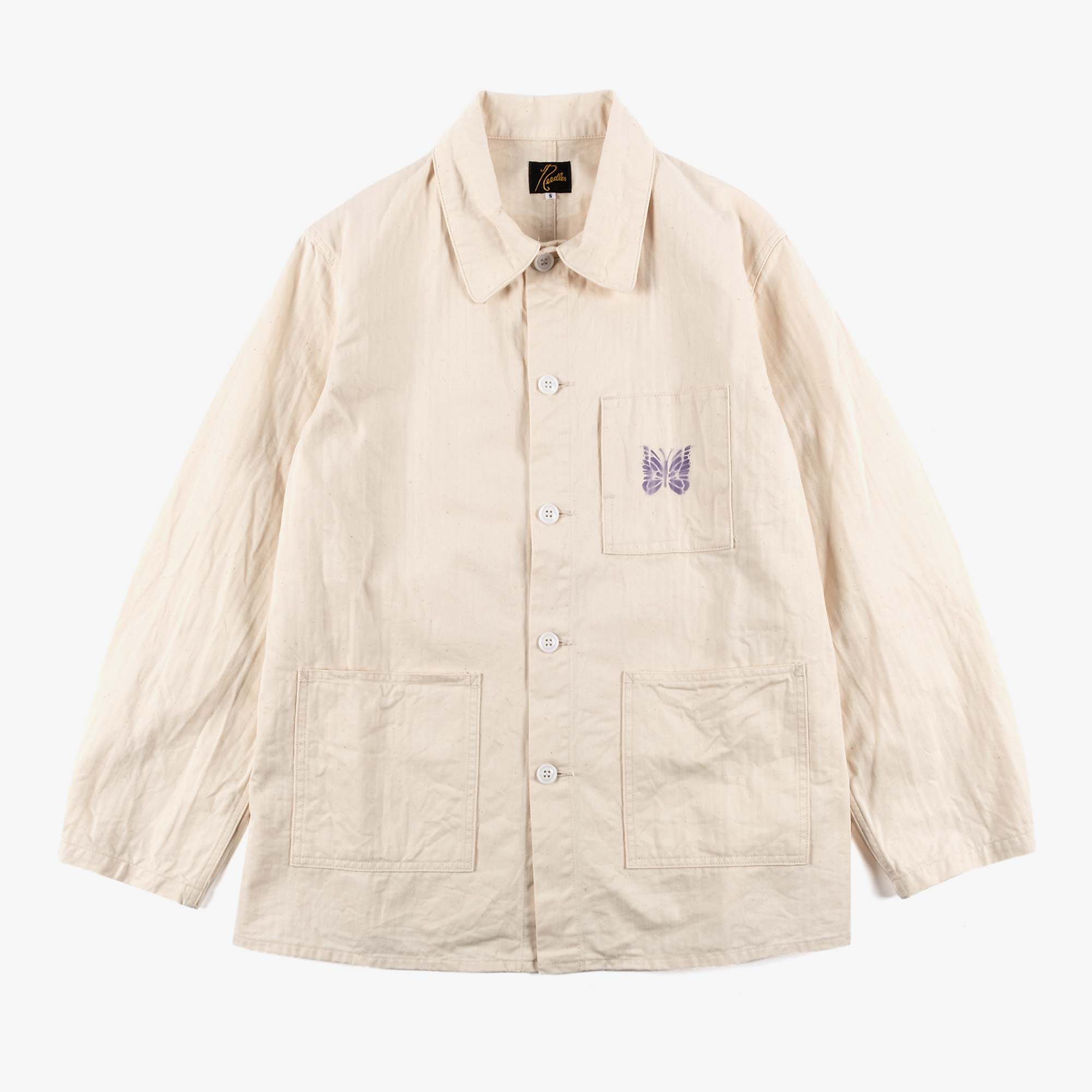 Needles Men's D.N. Coverall Jacket - Off White 1