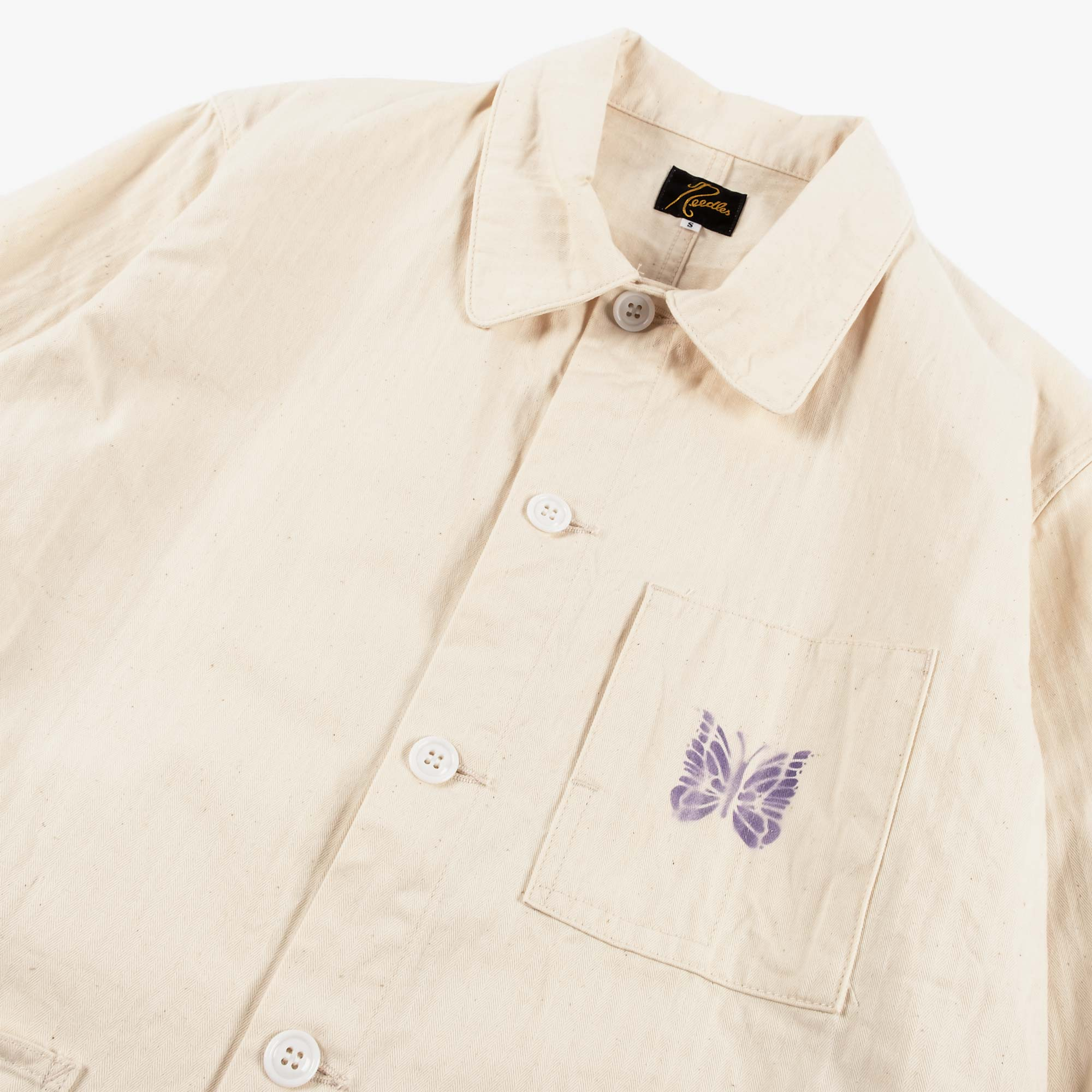 Needles Men's D.N. Coverall Jacket - Off White 3