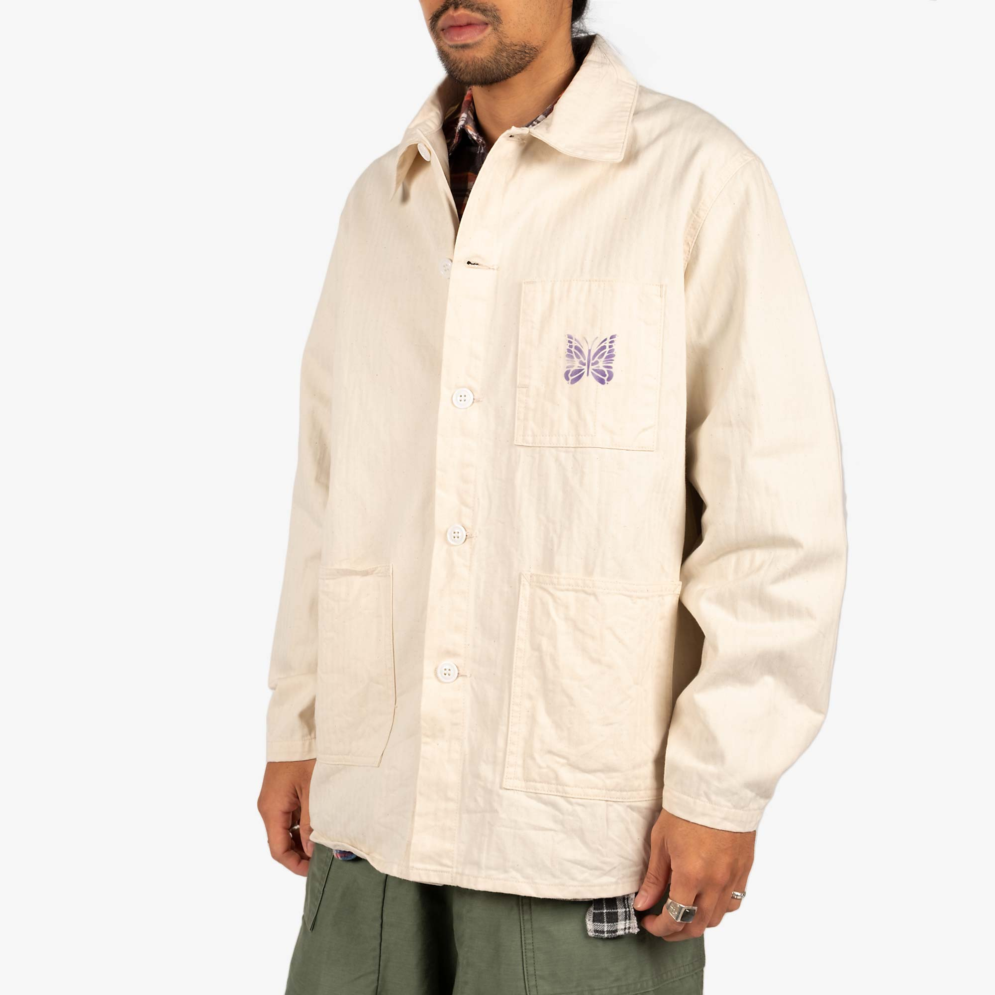 Needles Men's D.N. Coverall Jacket - Off White 2