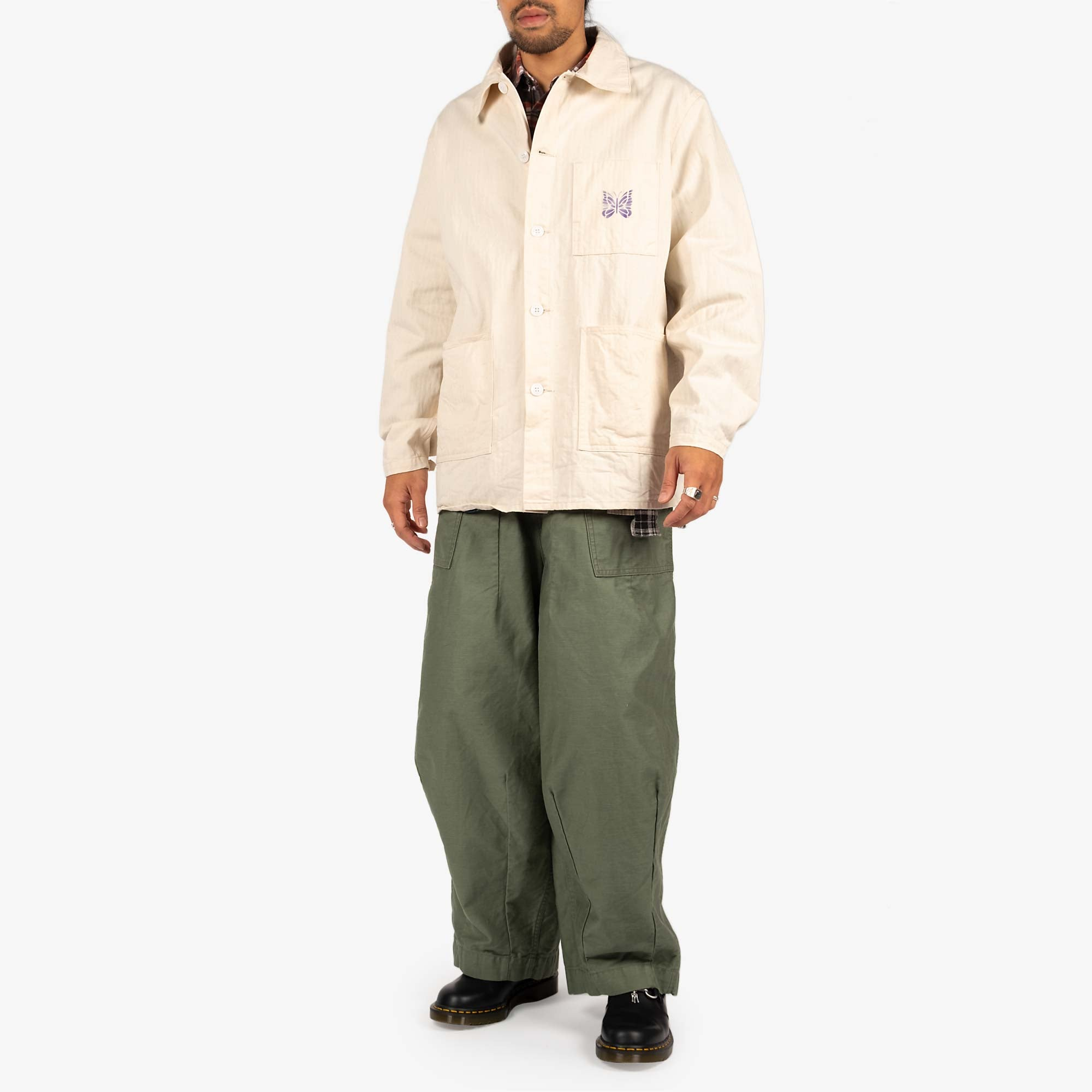 Needles Men's D.N. Coverall Jacket - Off White 5