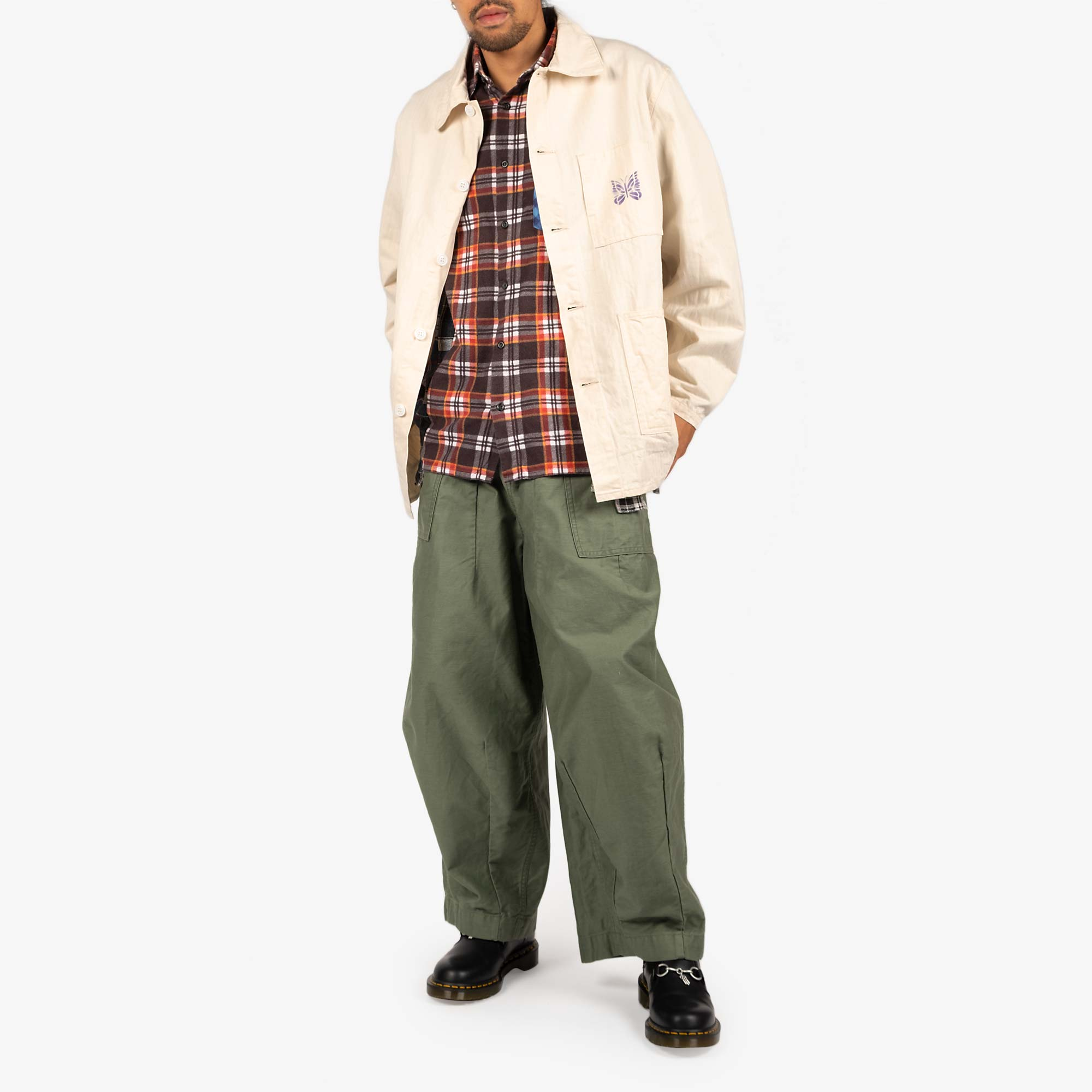 Needles Men's D.N. Coverall Jacket - Off White 6