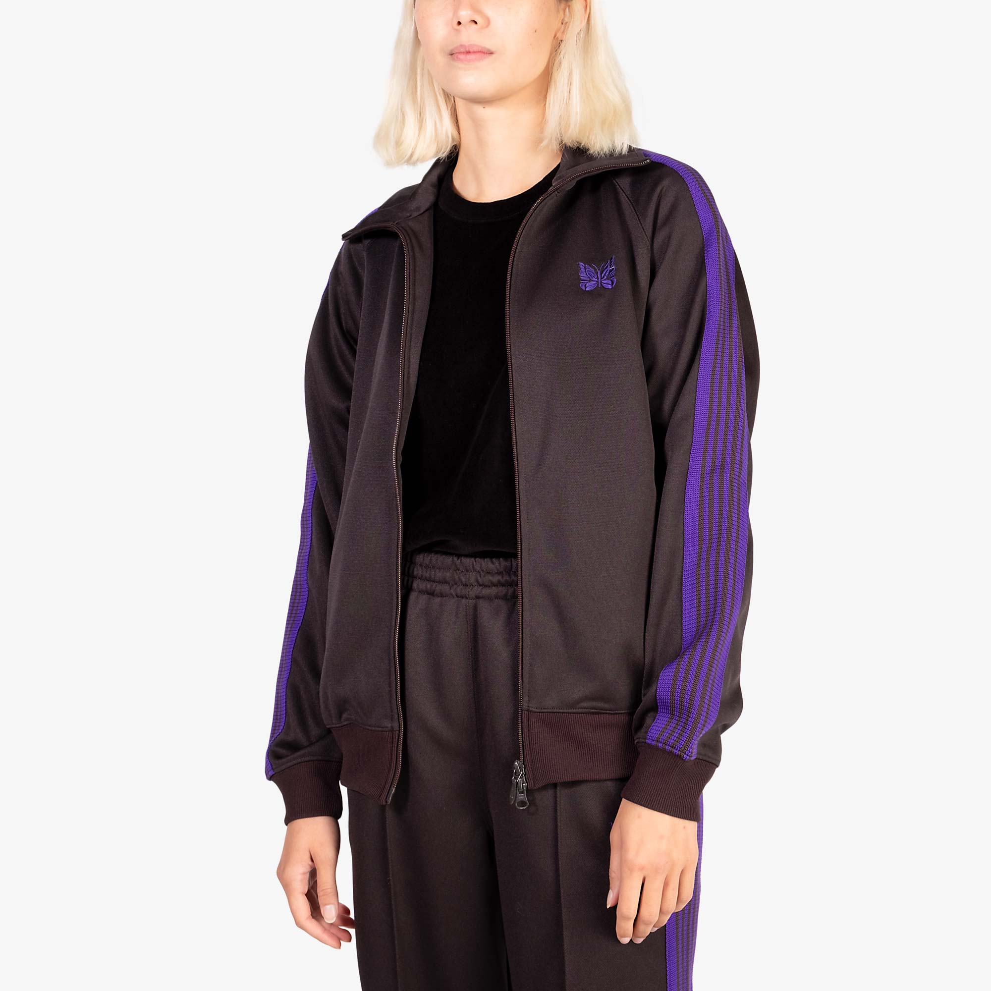 Needles W' Track Jacket Poly Smooth - Charcoal 4