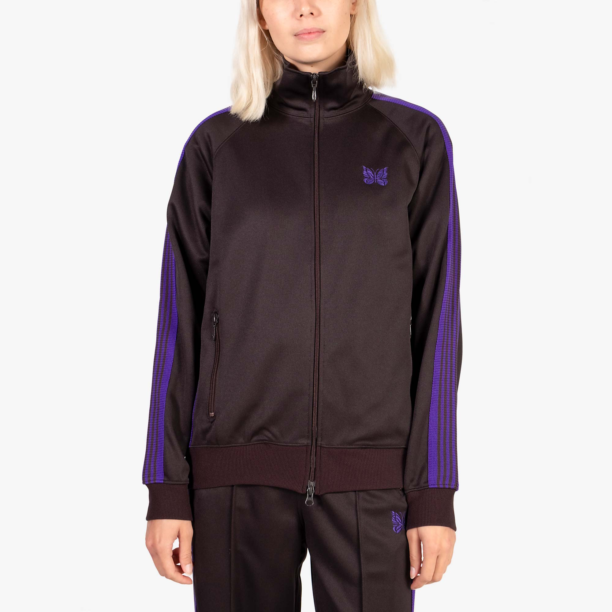Needles W' Track Jacket Poly Smooth - Charcoal 6