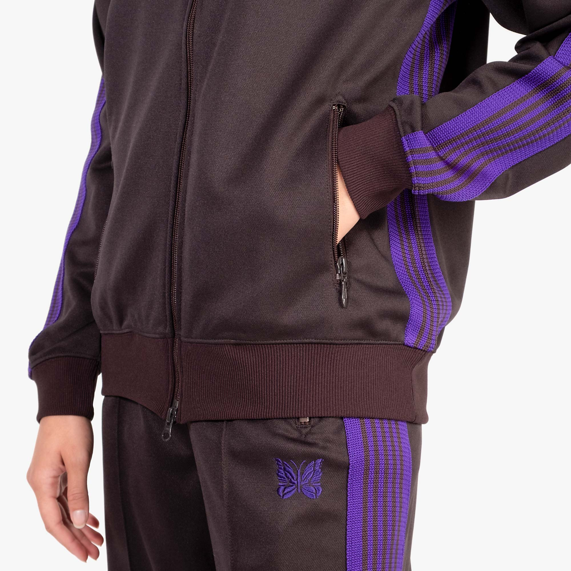 Needles W' Track Jacket Poly Smooth - Charcoal 7