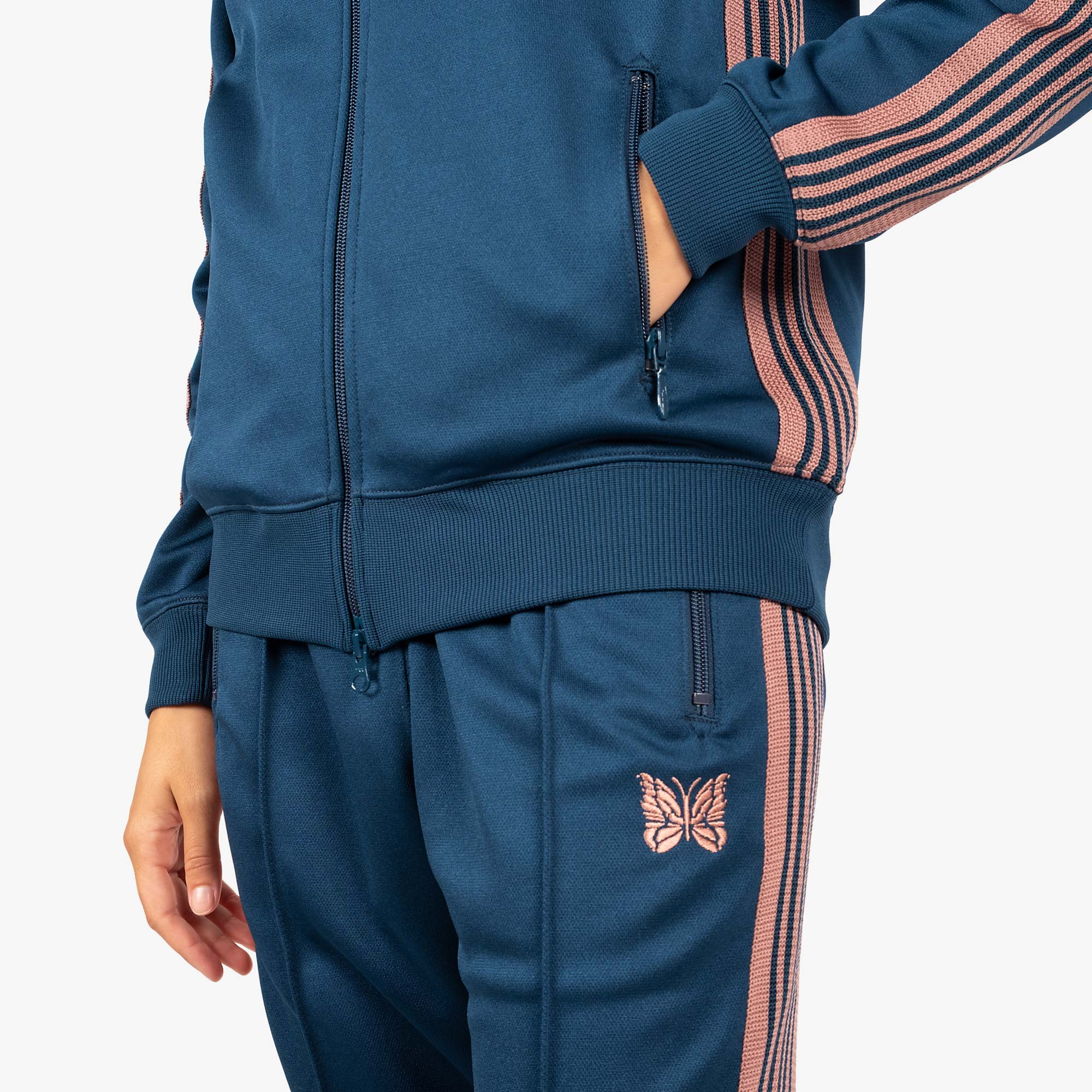 Needles W' Track Jacket - Poly Smooth Teal Green 5
