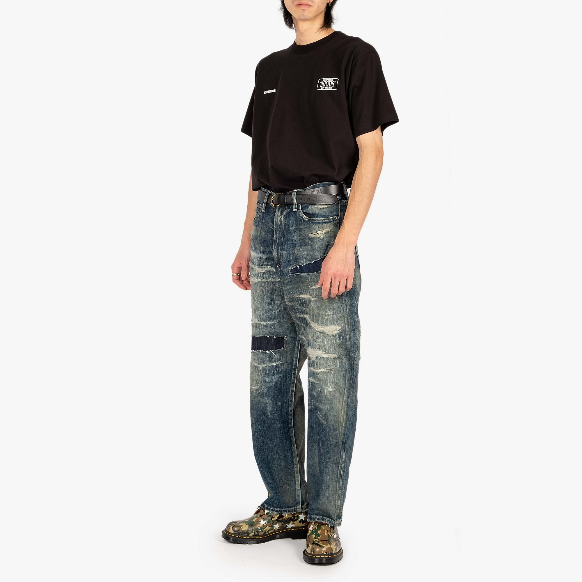 Neighborhood Scratch Savage DP Basic Pants - Indigo 2
