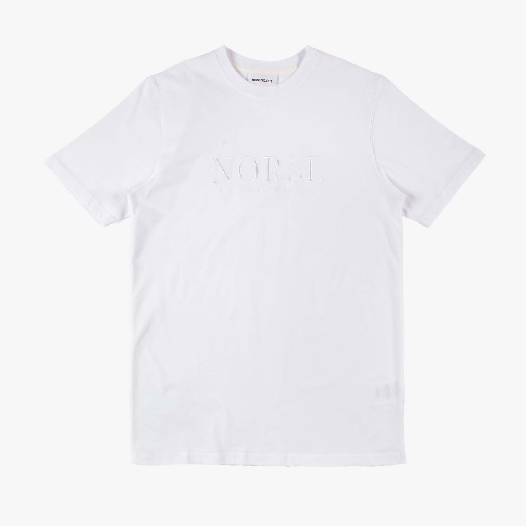 Norse Projects Niels Serif Logo Tee - White 1