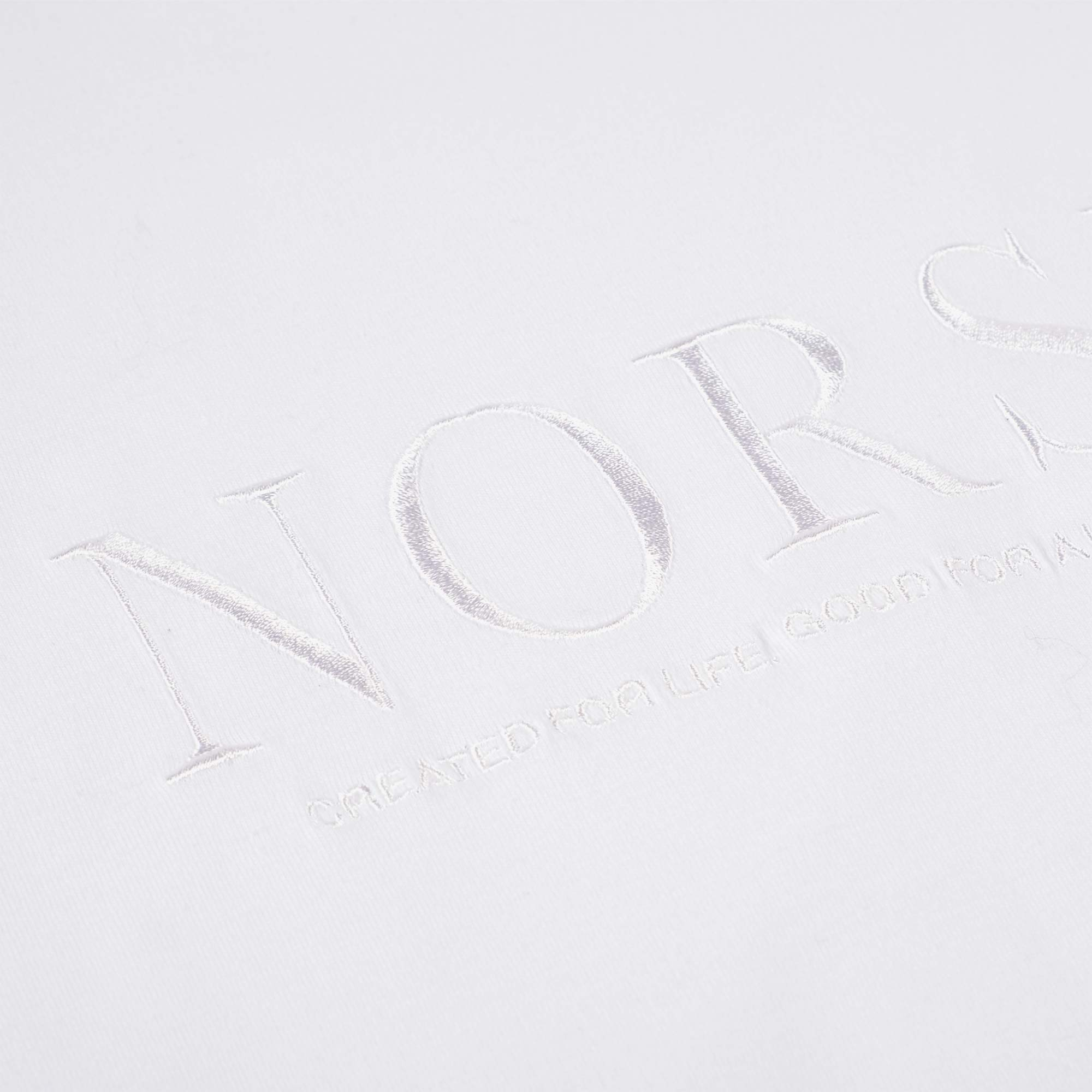 Norse Projects Niels Serif Logo Tee - White 2