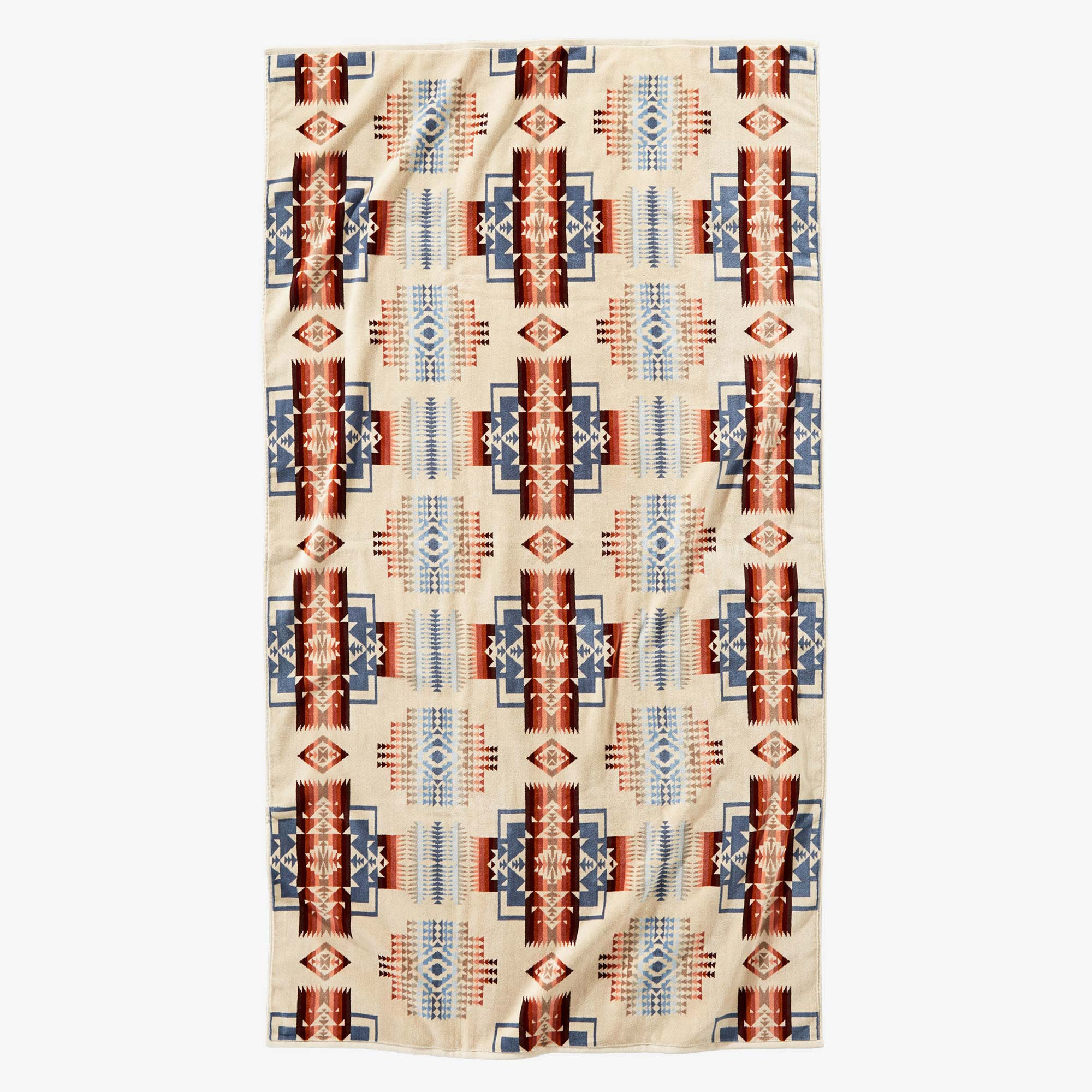 Pendleton Chief Joseph Rosewood Beach Towel - Cream 1