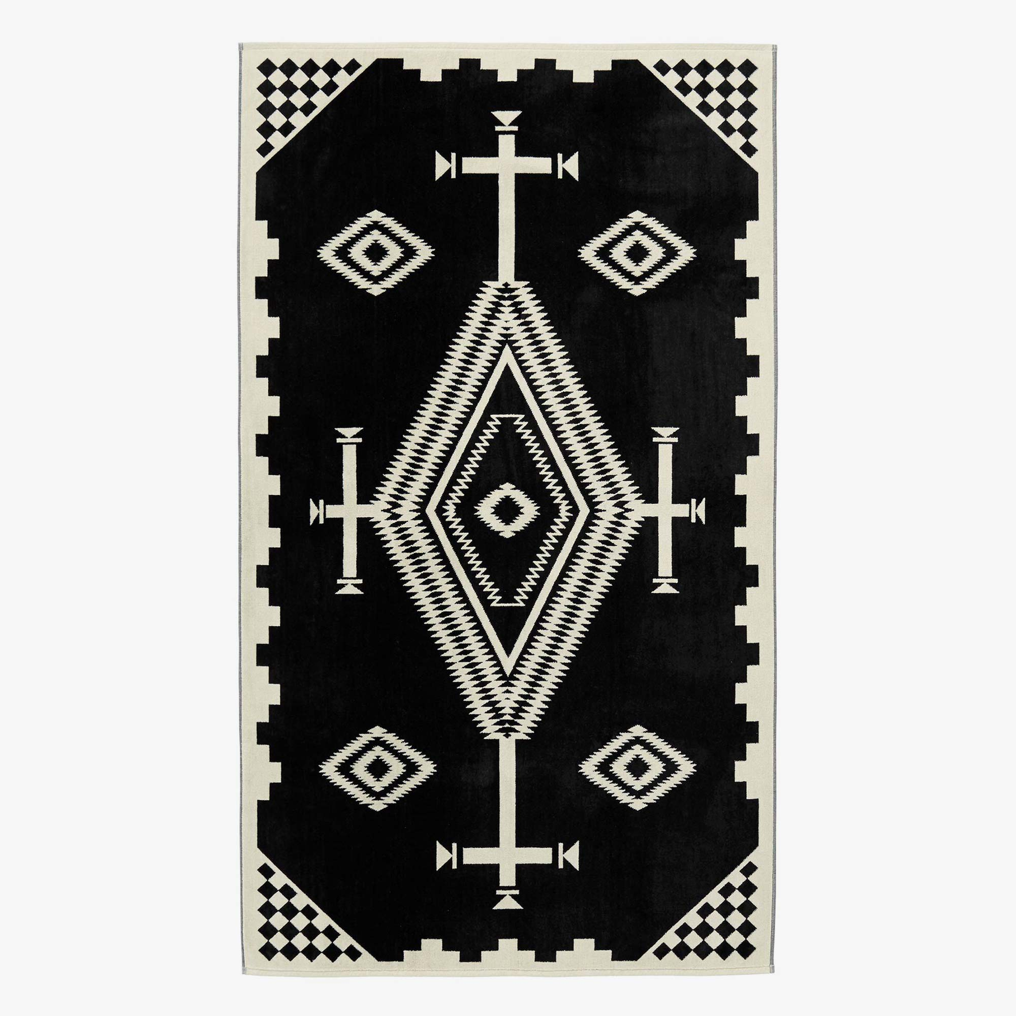 Pendleton Los Ojos Beach Towel - Black / White 1