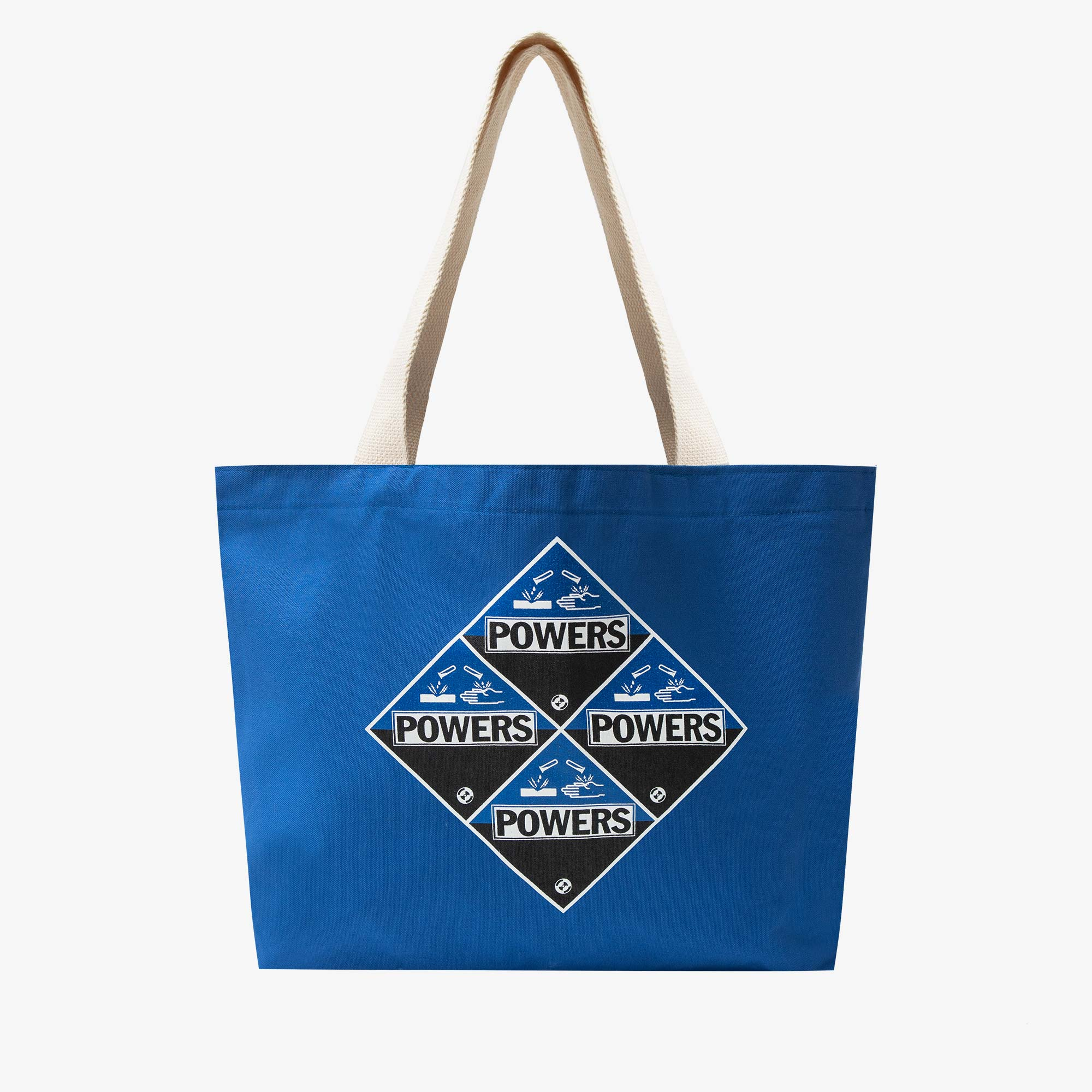 Powers Supply Corrosion Tote Bag - Canvas / Blue 1
