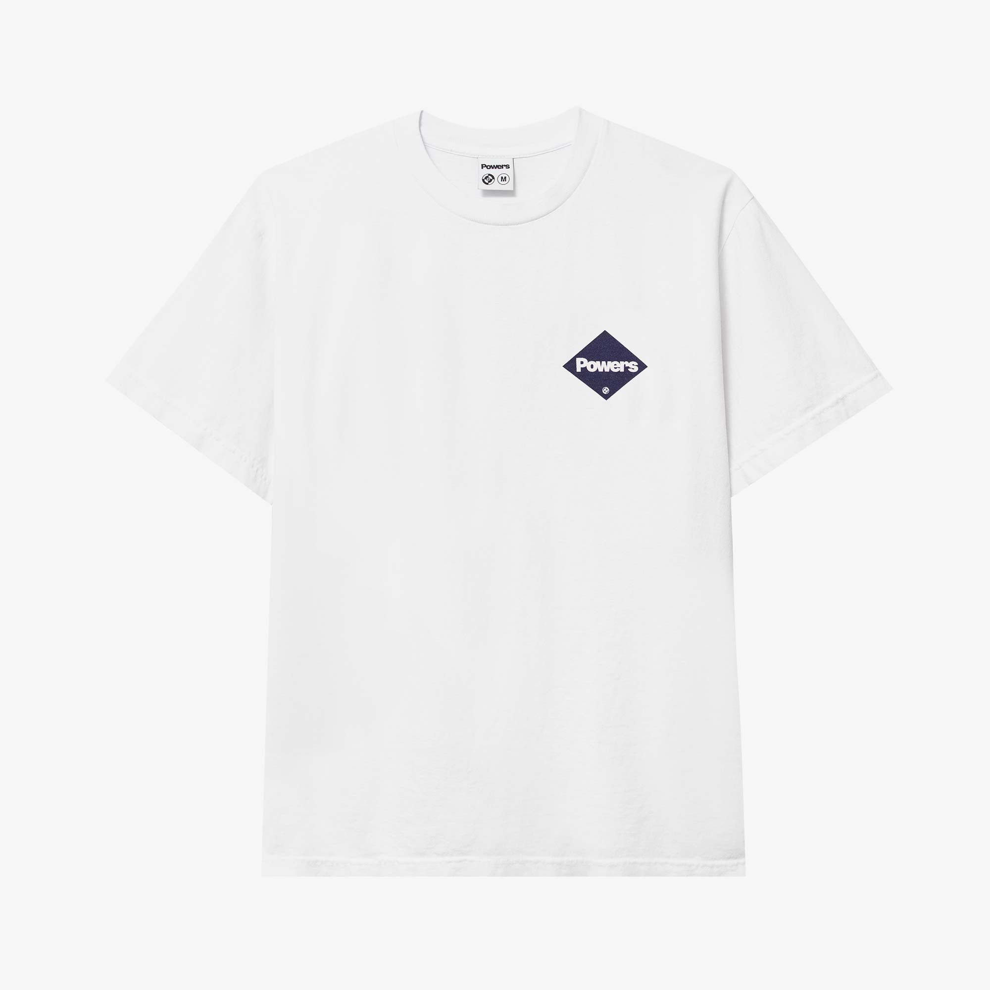 Powers Supply Diamond Logo SS Tee - White 2