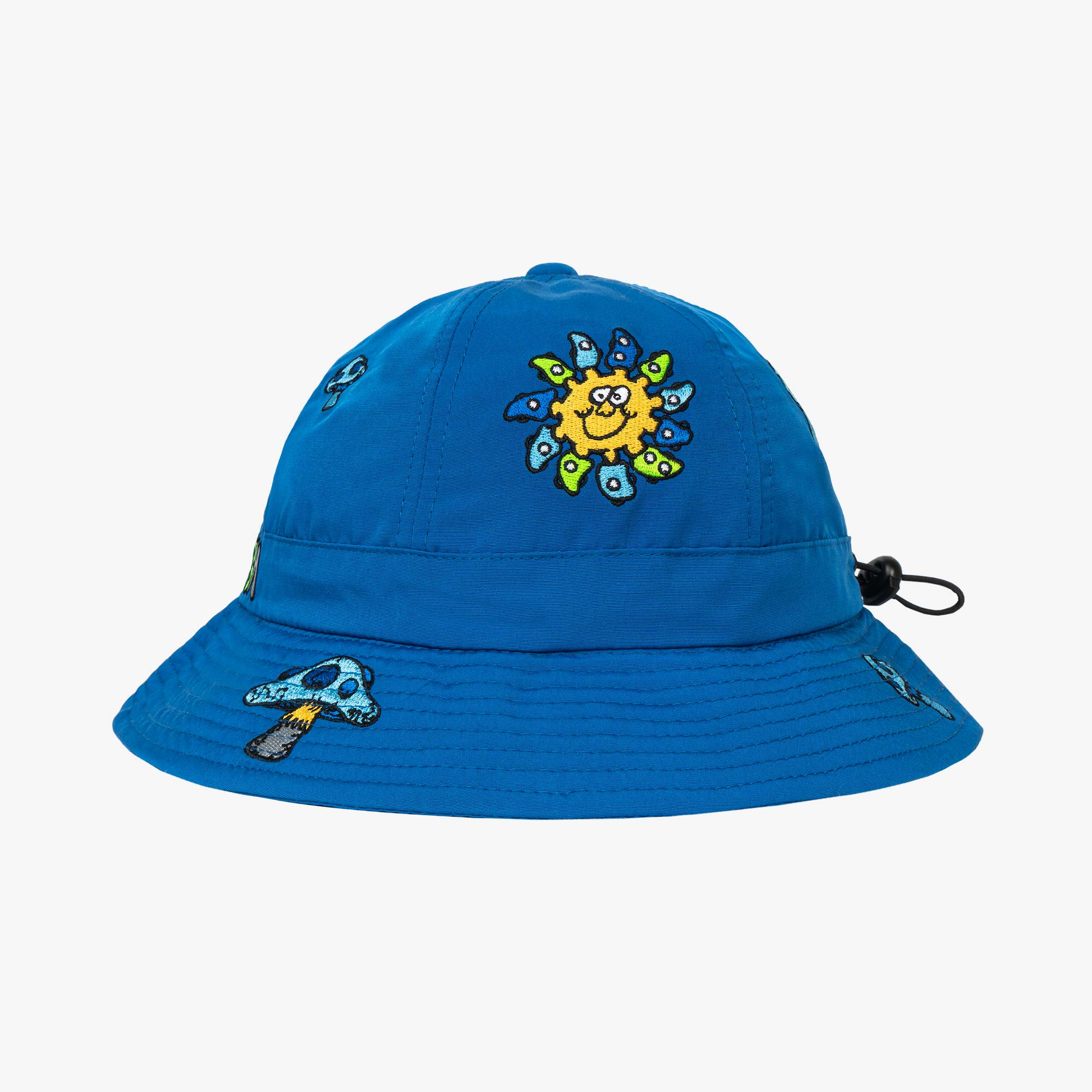 Real Bad Man Delic Embroidered Bell Bucket Hat - Blue 1