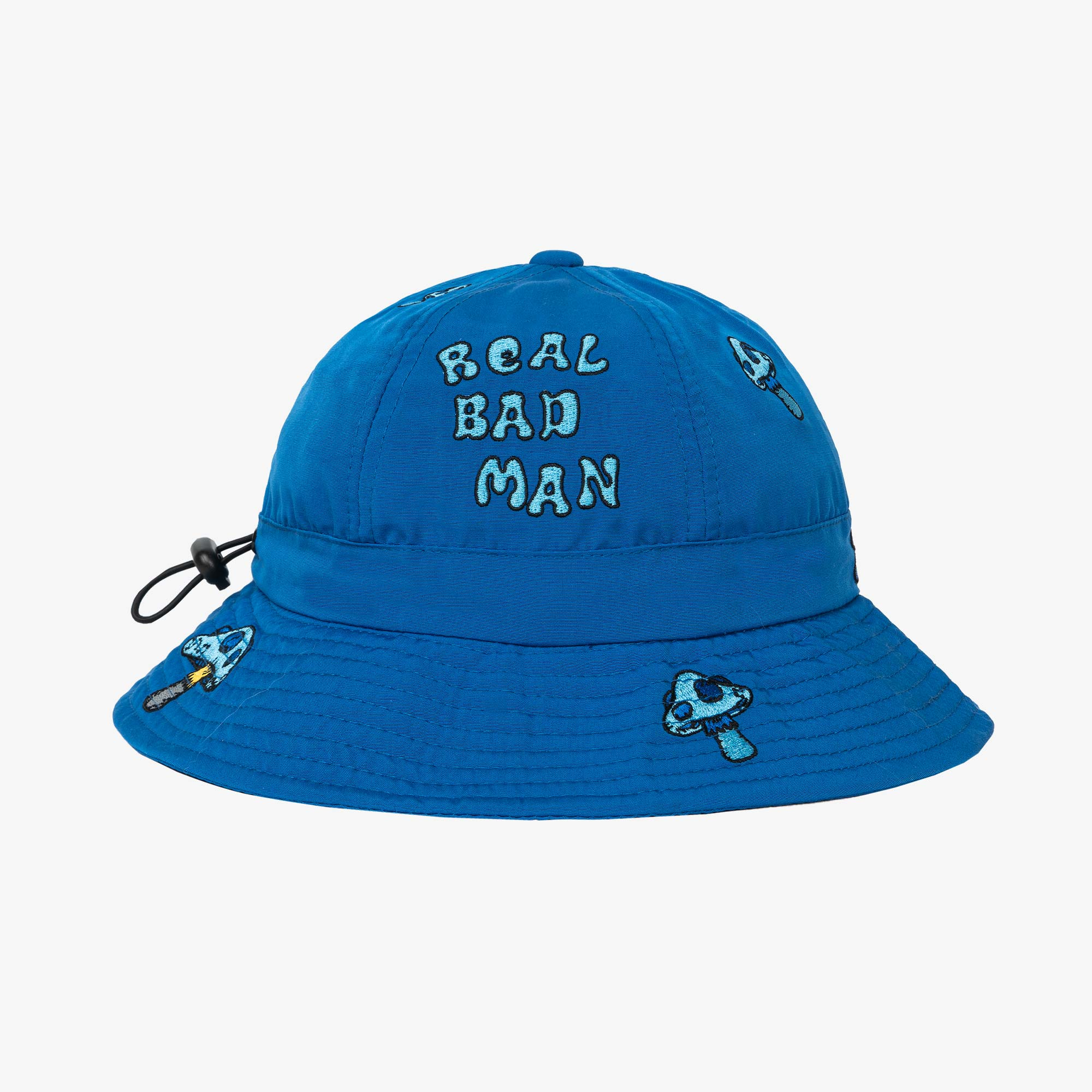 Real Bad Man Delic Embroidered Bell Bucket Hat - Blue 4