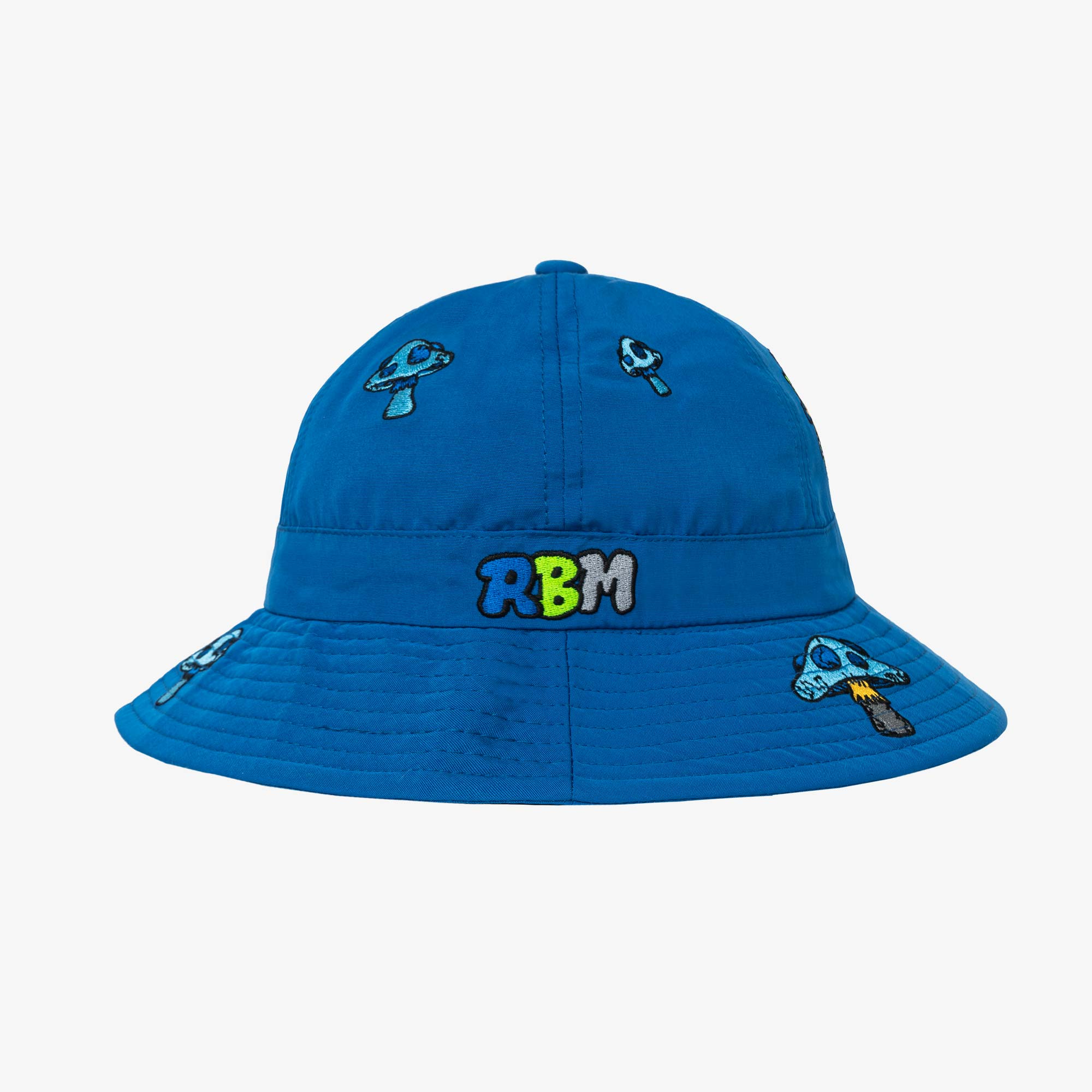 Real Bad Man Delic Embroidered Bell Bucket Hat - Blue 2