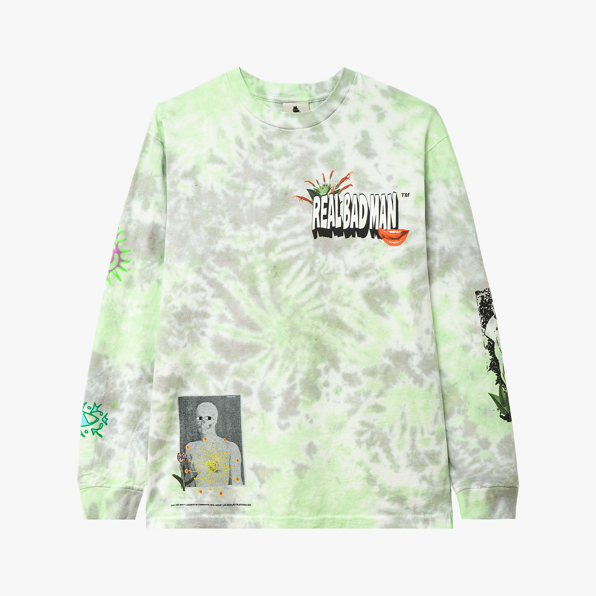 Real Bad Man From Outer Space LS Tee - Blue / Green 1