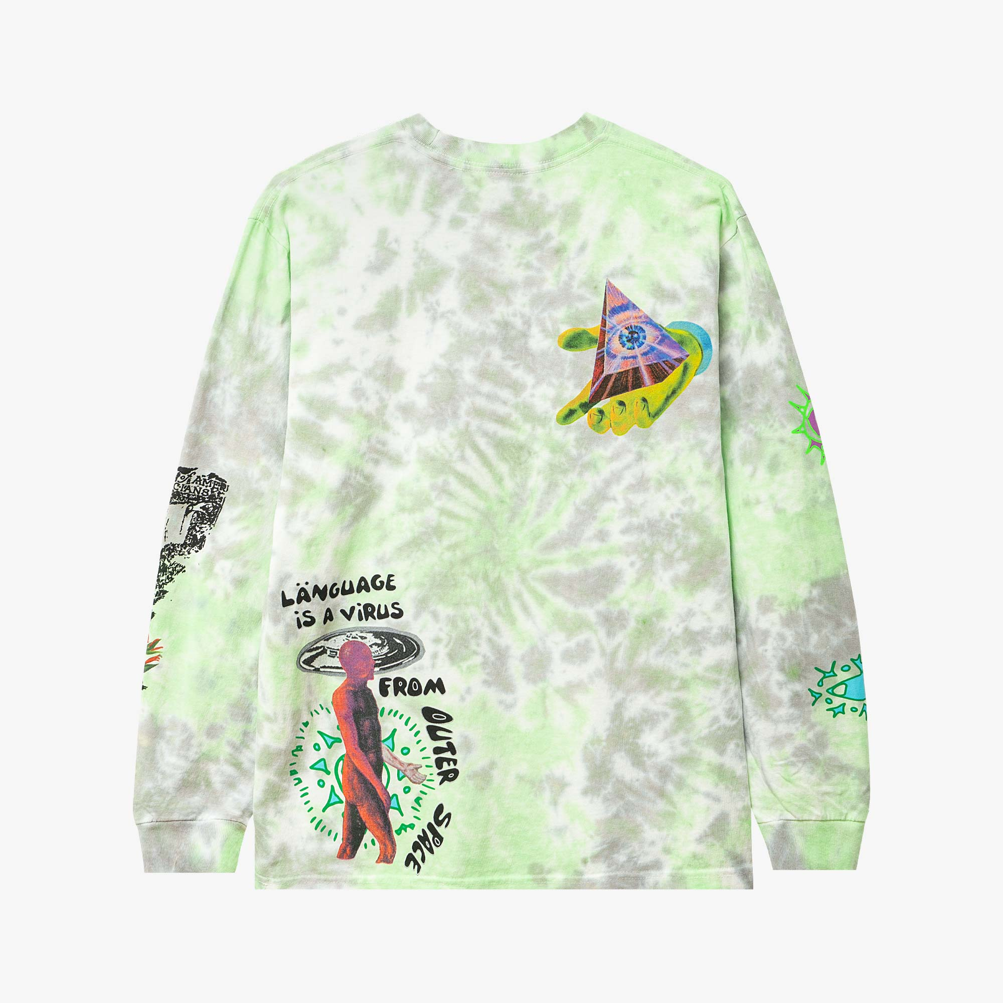 Real Bad Man From Outer Space LS Tee - Blue / Green 2