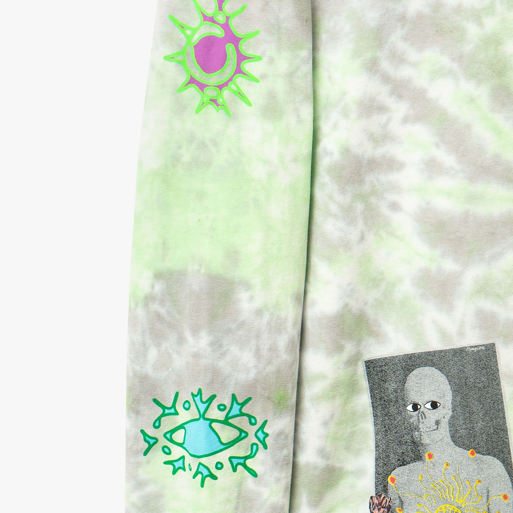 Real Bad Man From Outer Space LS Tee - Blue / Green 4