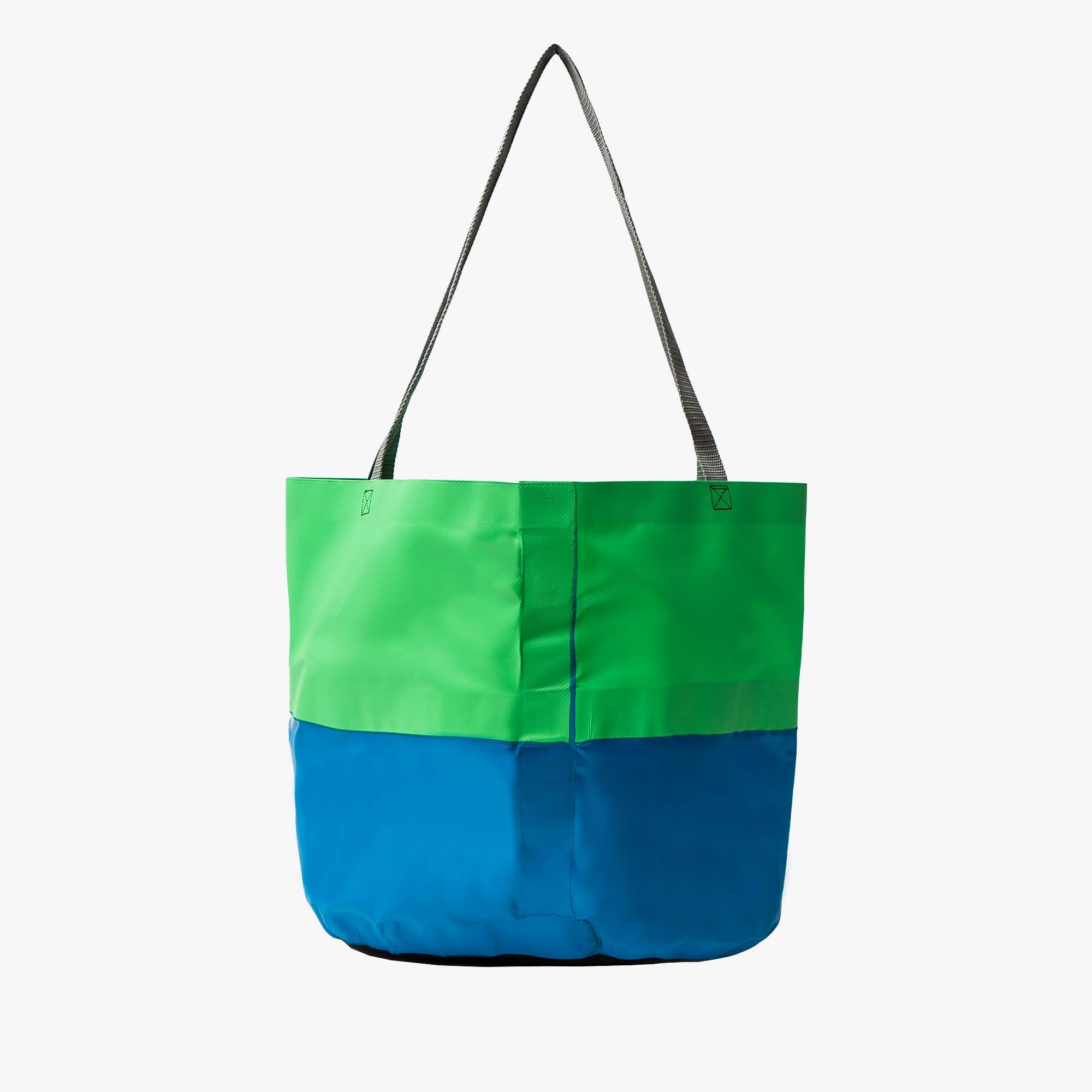 Real Bad Man Rubber Tote - Green / Blue 2