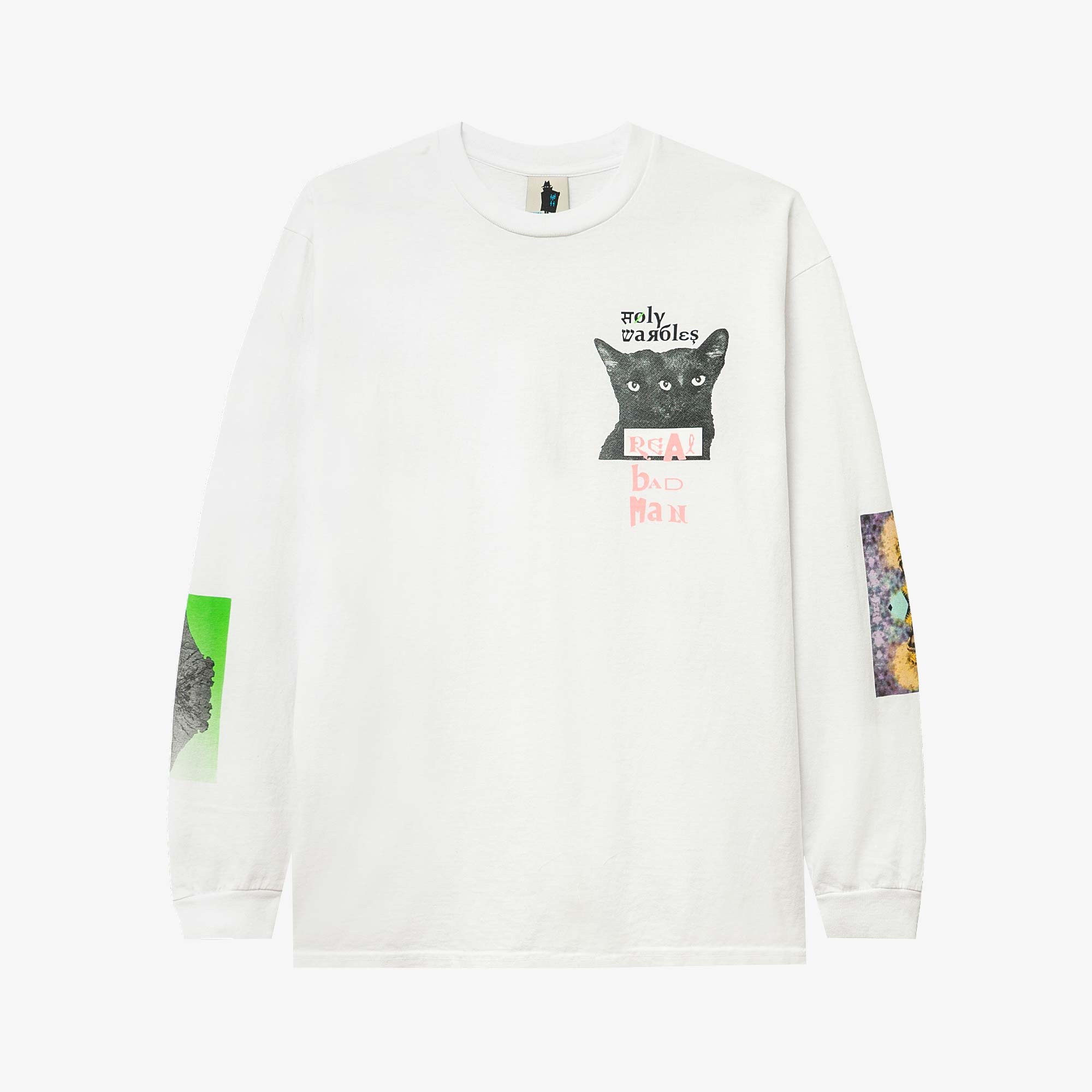 Real Bad Man Tribute to Warbles LS Tee - White 1