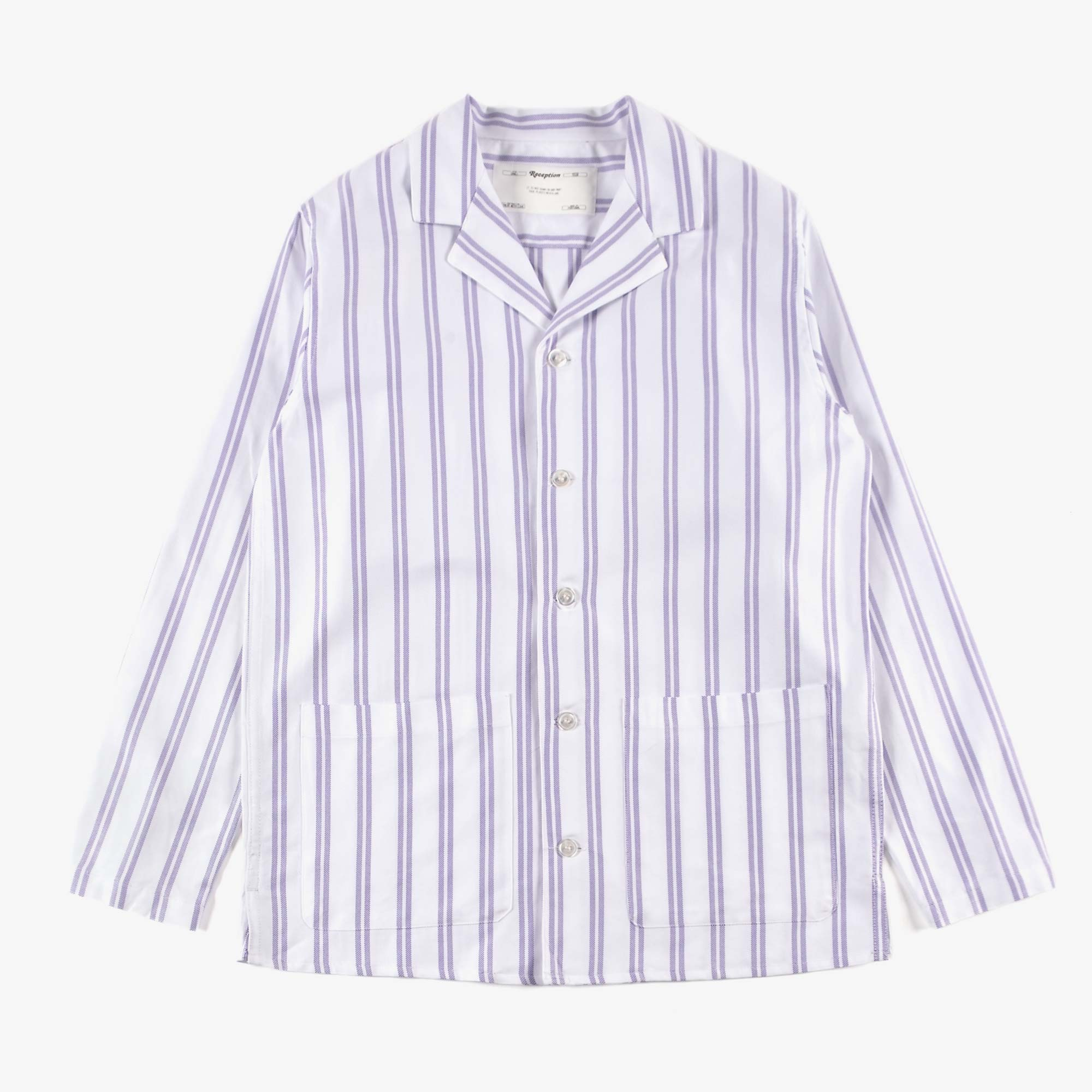 Reception Teba Shirt - White / Lavender 1