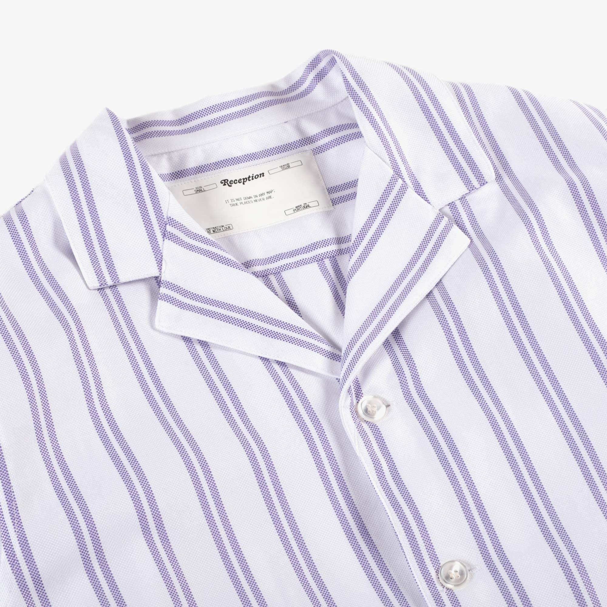 Reception Teba Shirt - White / Lavender 2