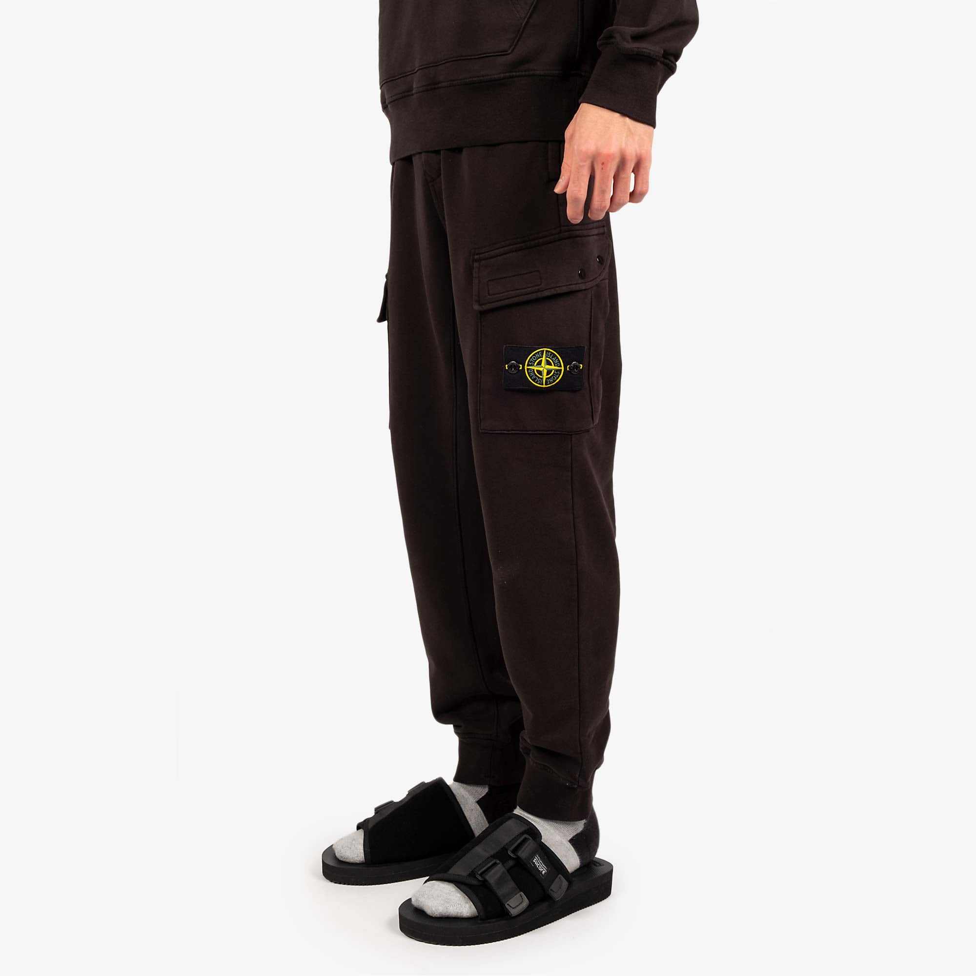 Stone Island Fleece Pants 741565251 - Black 2
