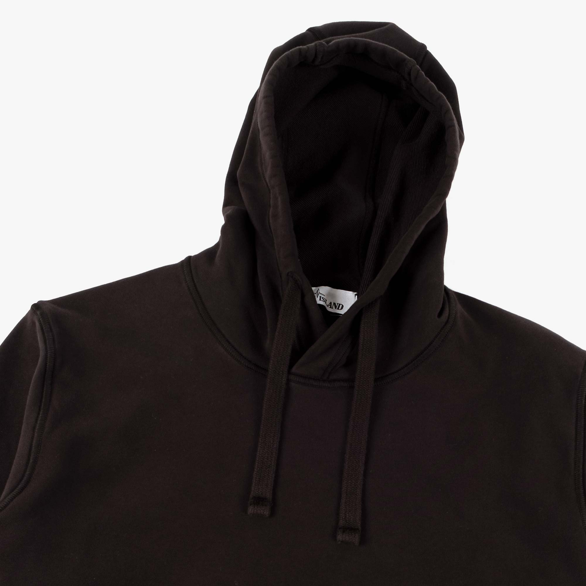 Stone Island Garment Dyed Hooded Sweat 741564151 - Black 4