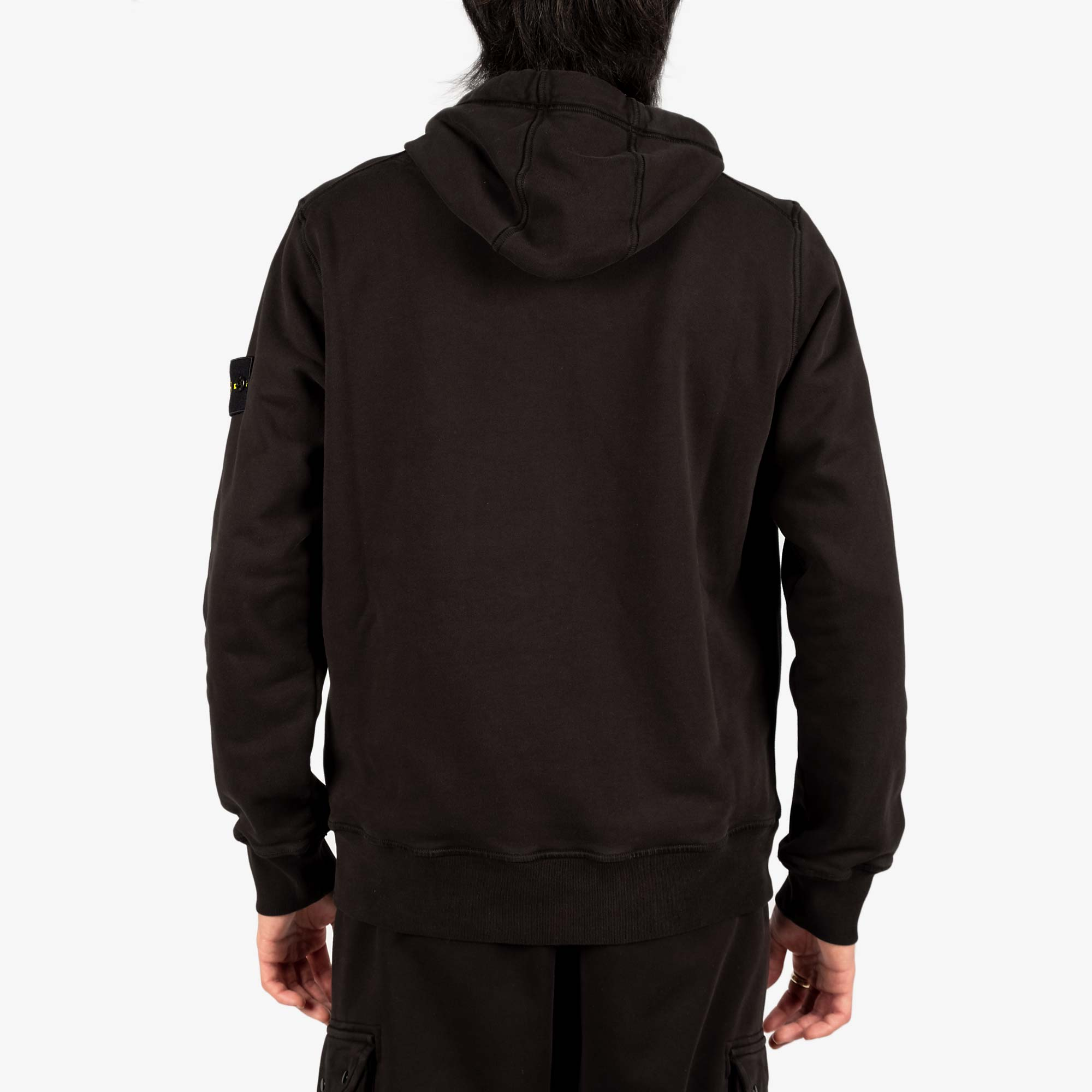 Stone Island Garment Dyed Hooded Sweat 741564151 - Black 8