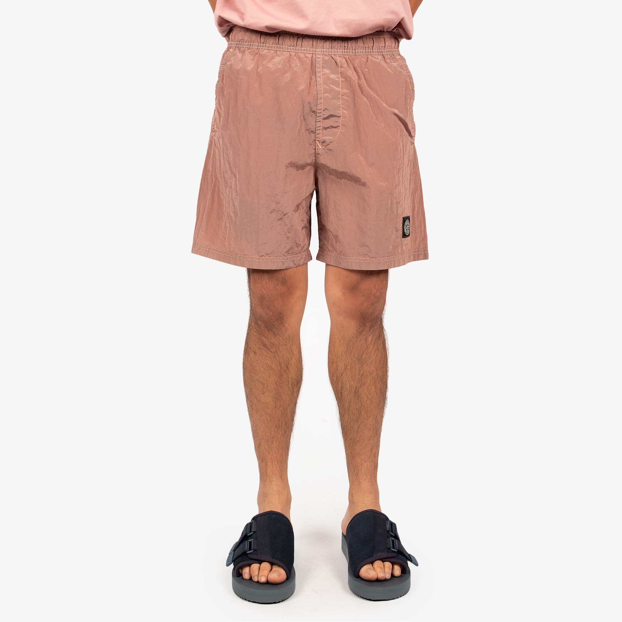Stone Island Nylon Metal Swim Shorts 7415B0943 Shorts - Rose Quartz 7