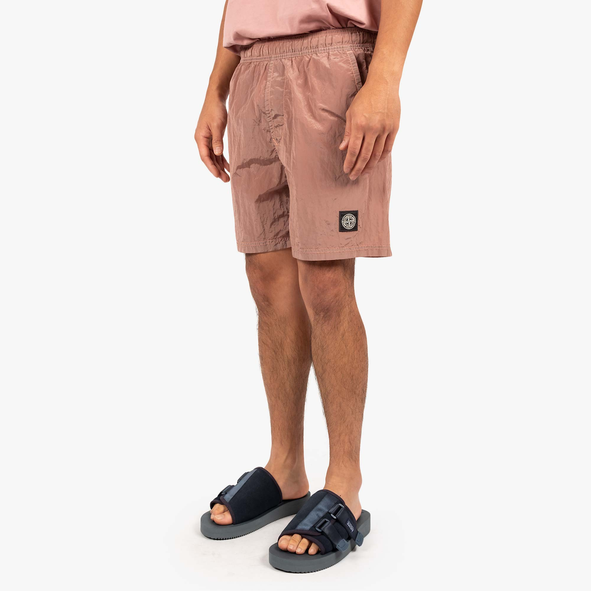 Stone Island Nylon Metal Swim Shorts 7415B0943 Shorts - Rose Quartz 2