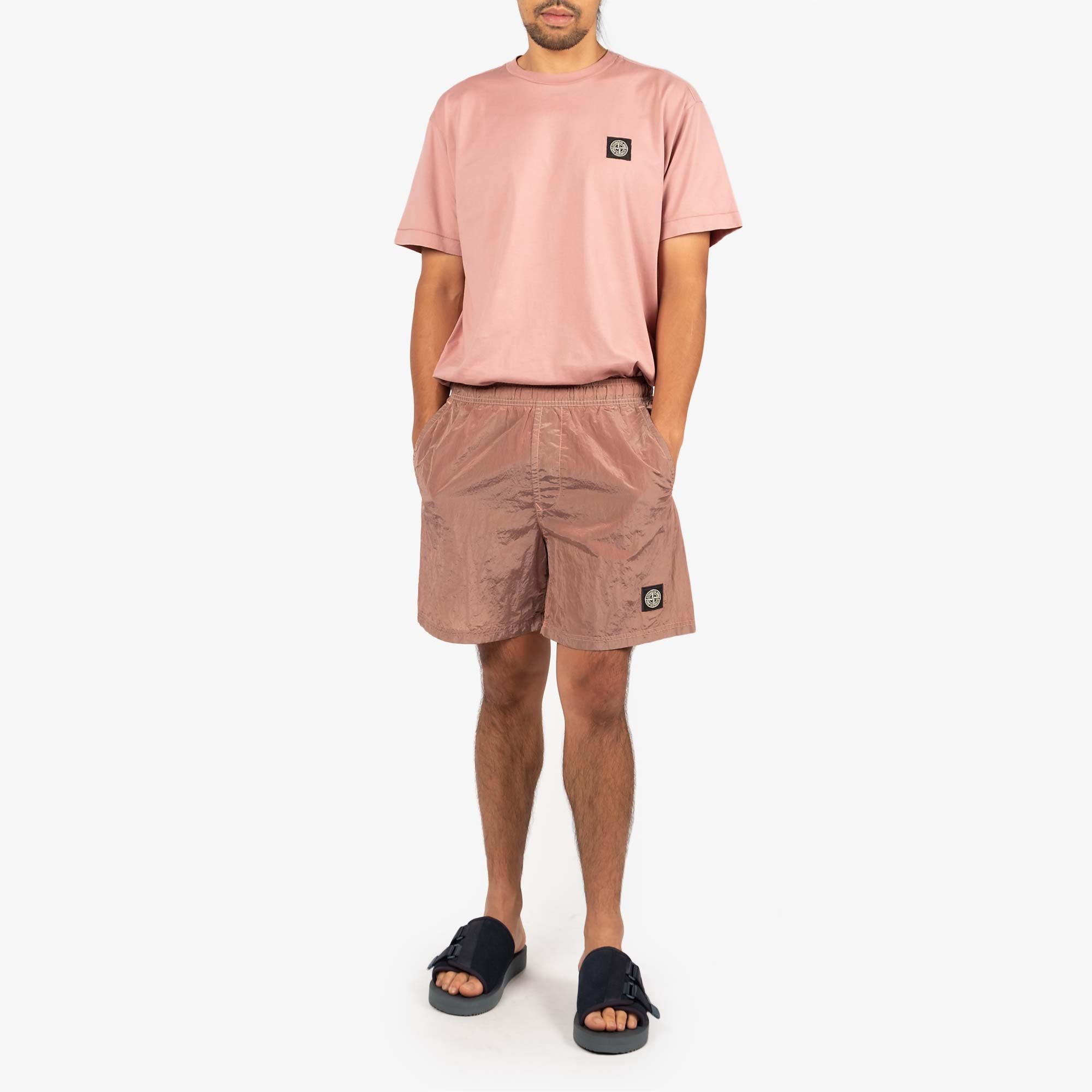 Stone Island Nylon Metal Swim Shorts 7415B0943 Shorts - Rose Quartz 8