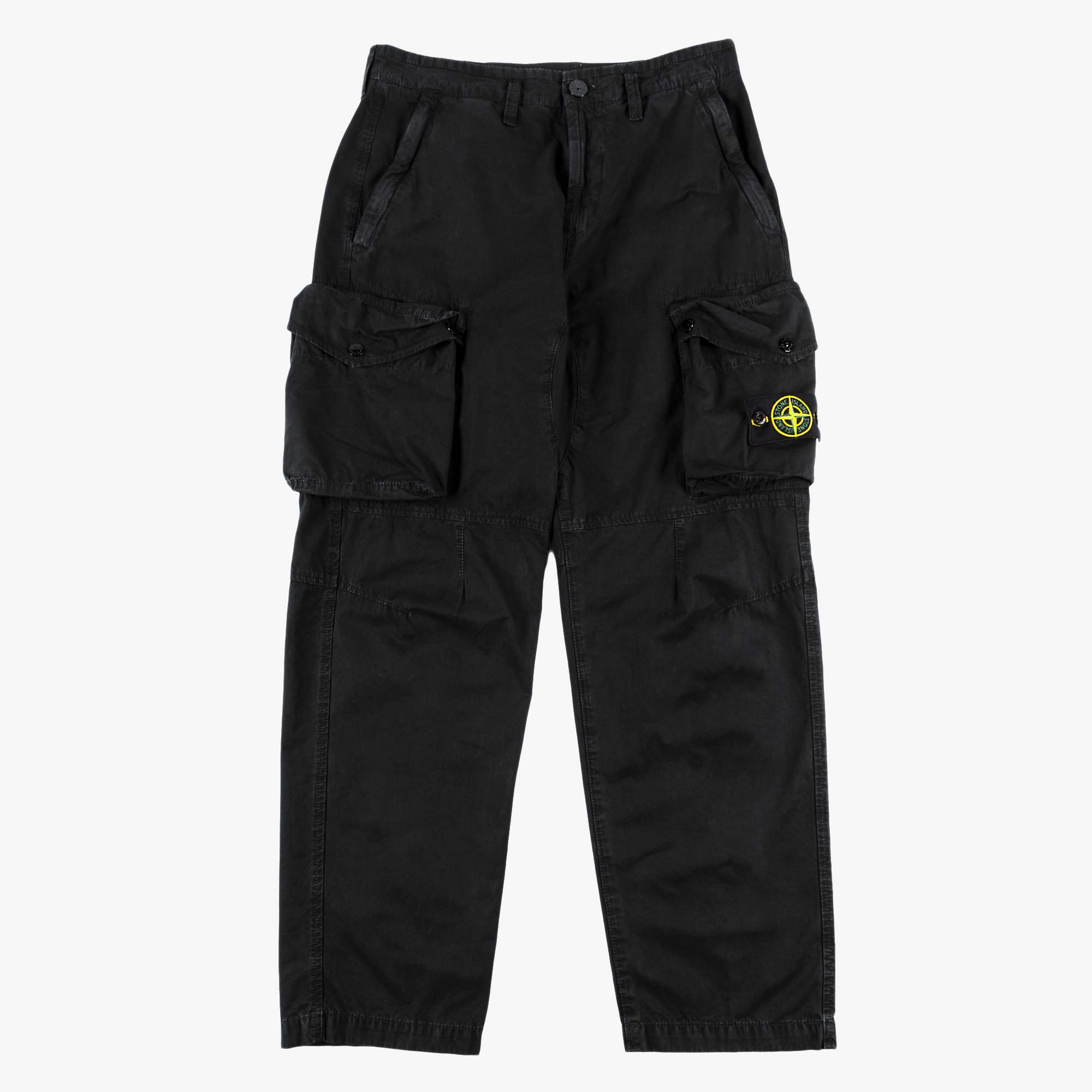 Stone Island T.CO Old Effect Cargo Pant 7415319WA - Black 1