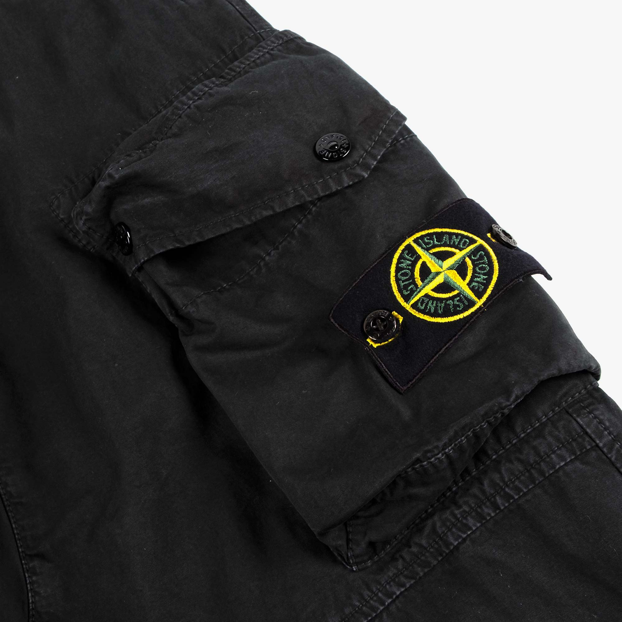 Stone Island T.CO Old Effect Cargo Pant 7415319WA - Black 3